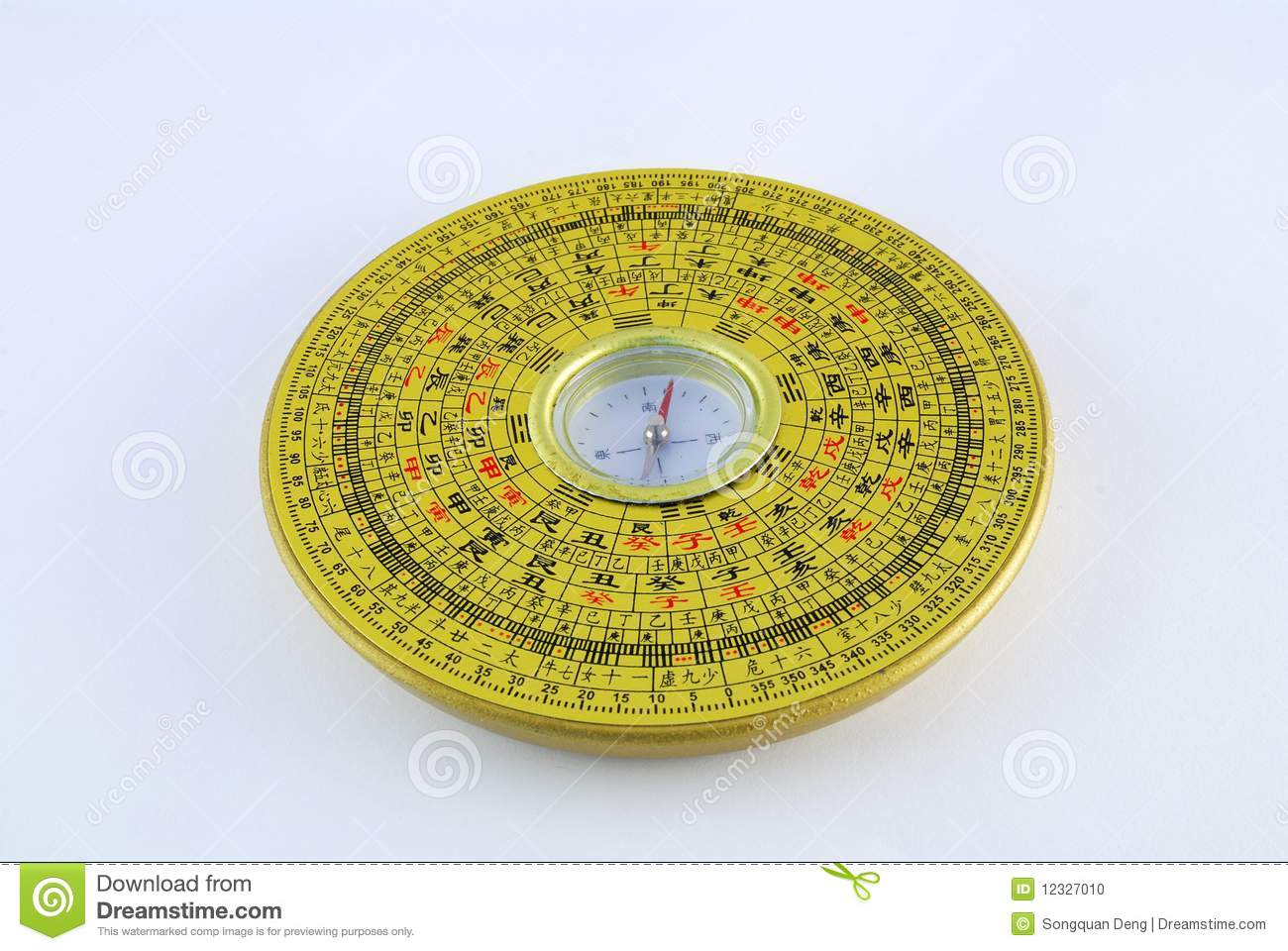 Chinese Compass Stock Photo - Image: 12327010