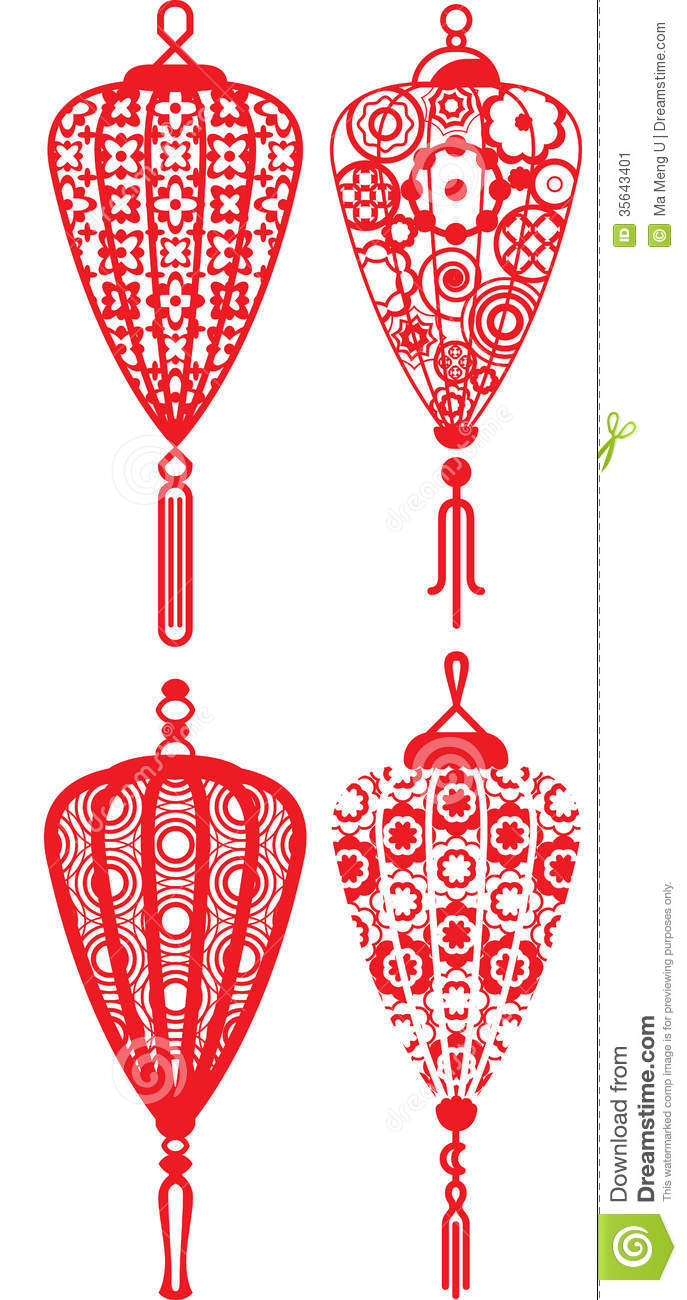 Chinese contemporary design lanterns set for Chinese New Year and Mid ...