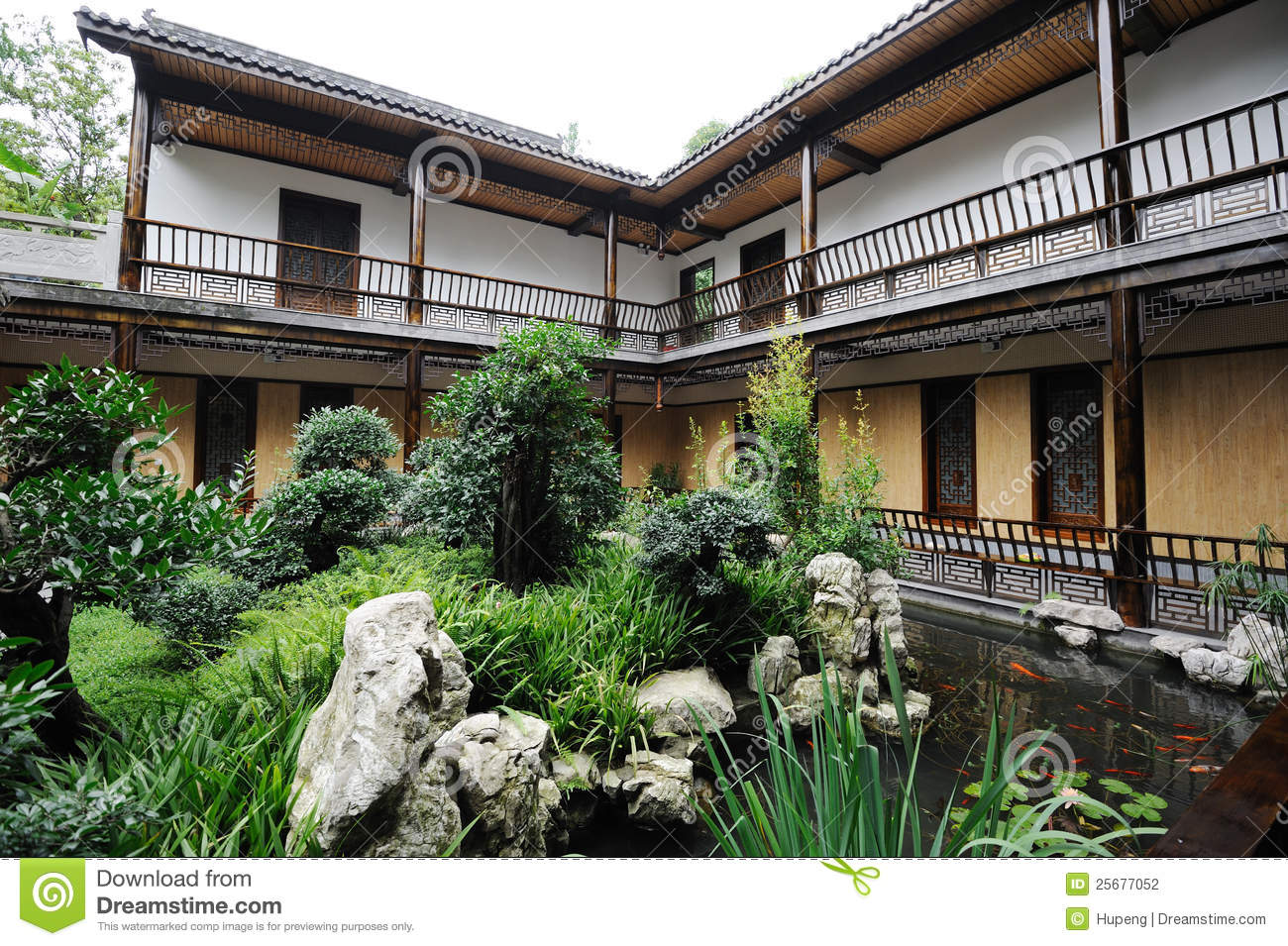 Chinese Courtyard Stock Photography Image 25677052