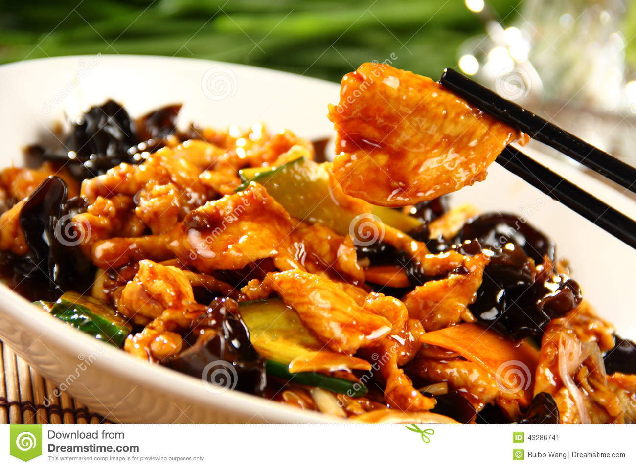 Delicious chinese food cold dish dried beef slice royalty free stock image - Delicious chinese cuisine ...