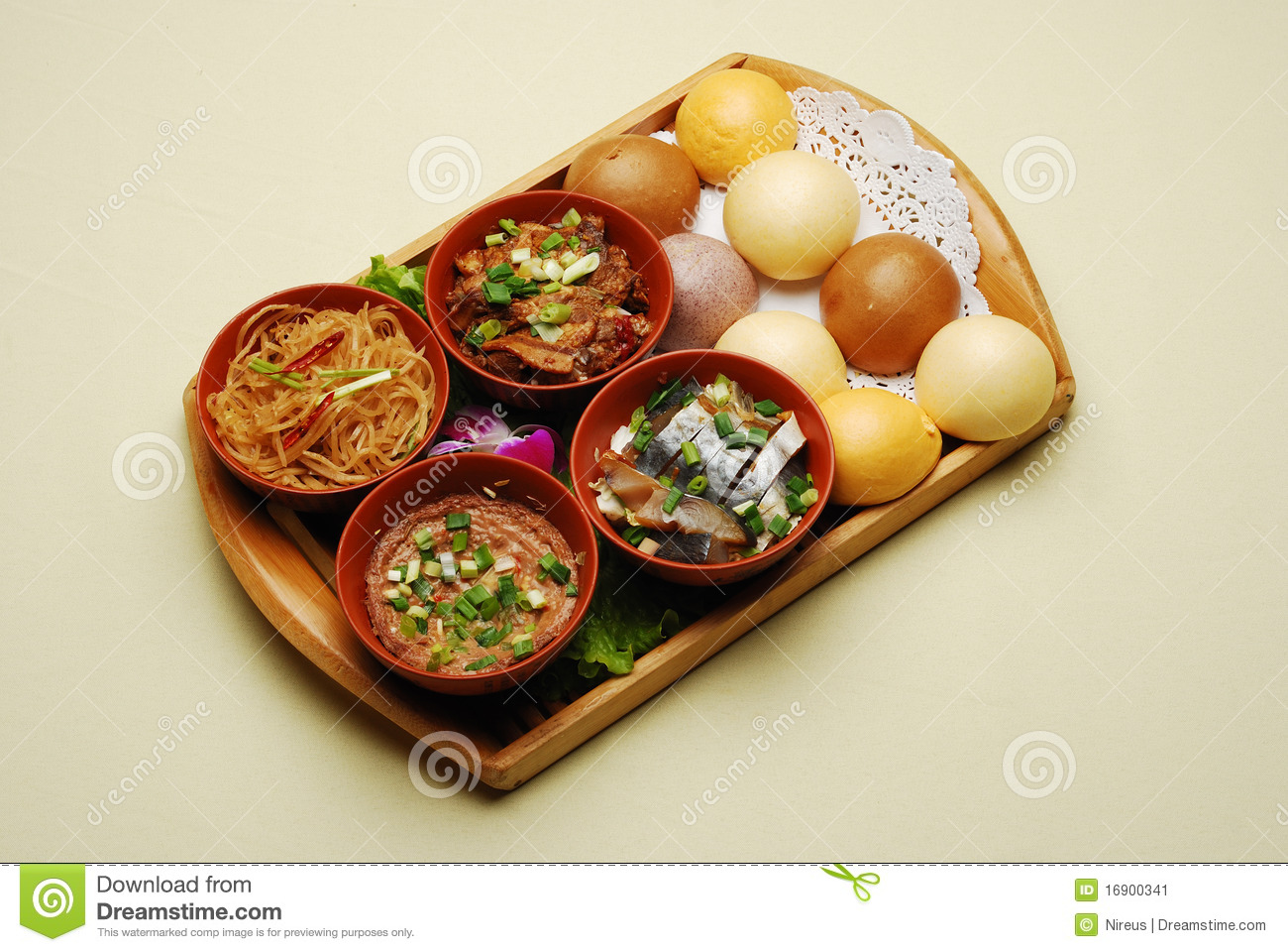 Chinese dishes steamed salted fish and bun stock image for Chinese salted fish