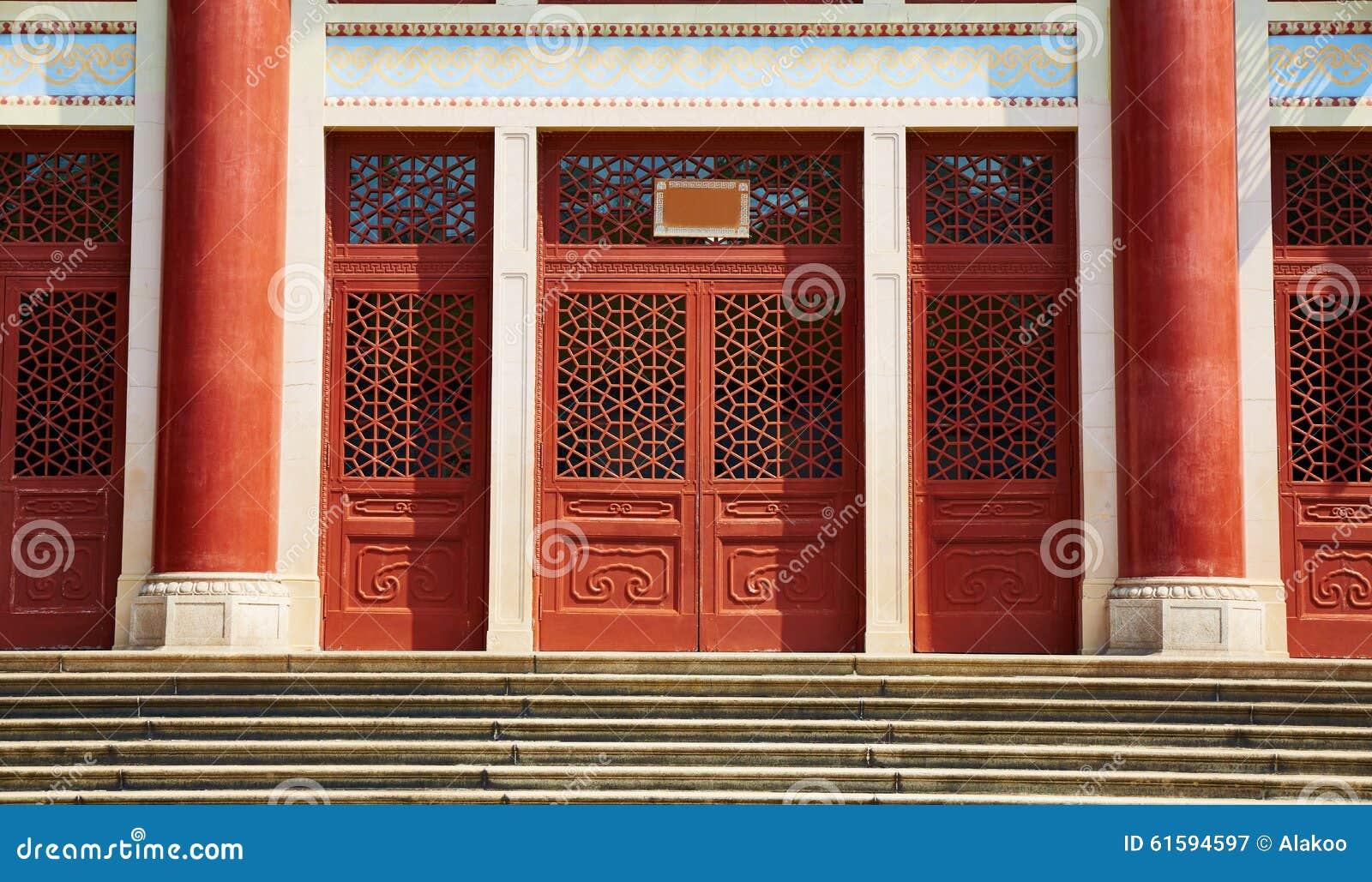 Wood Front Door China Stock Image Image Of Front Doorway 61594597