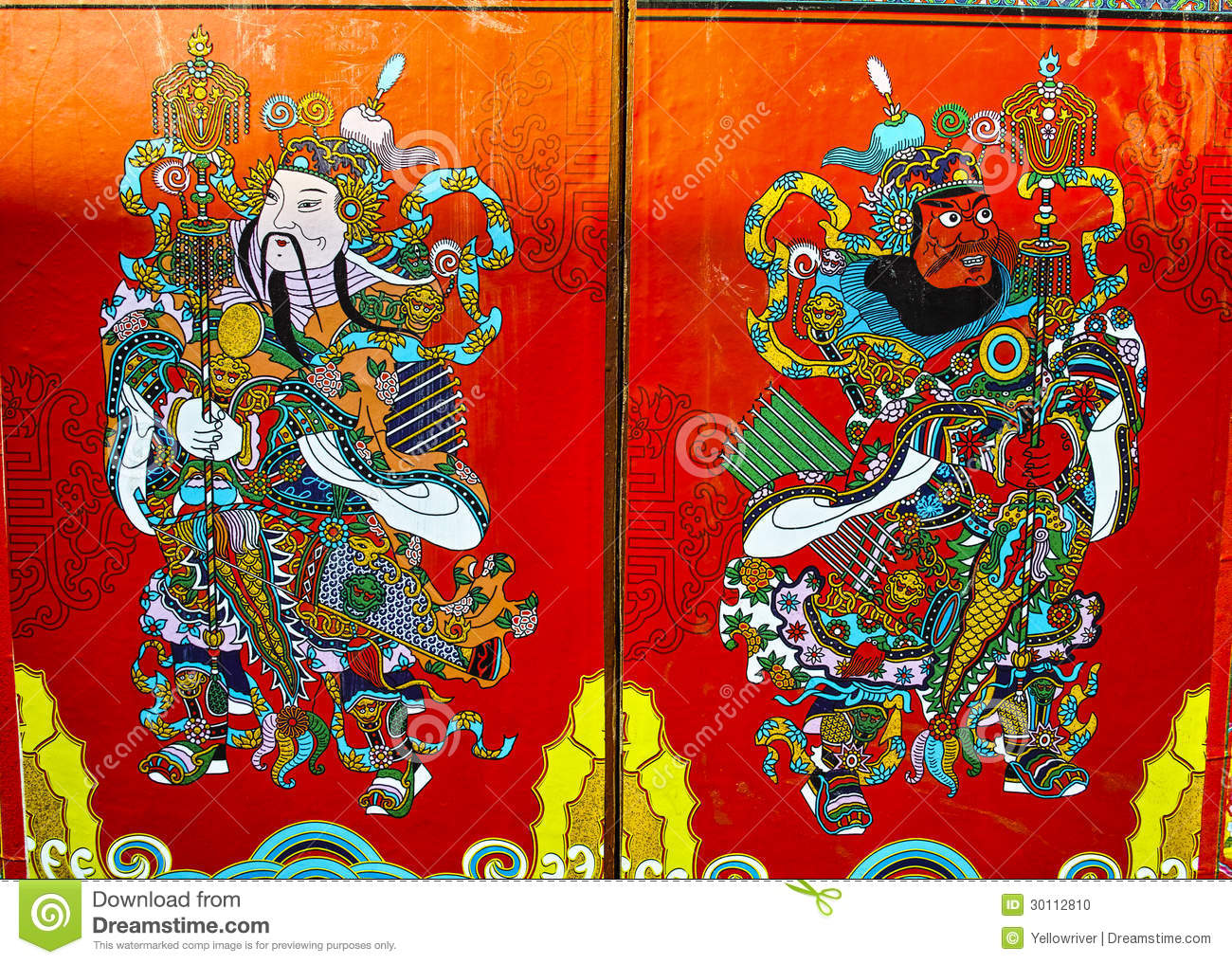sc 1 st  Dreamstime.com & Chinese Door God Stock Photos - Royalty Free Images