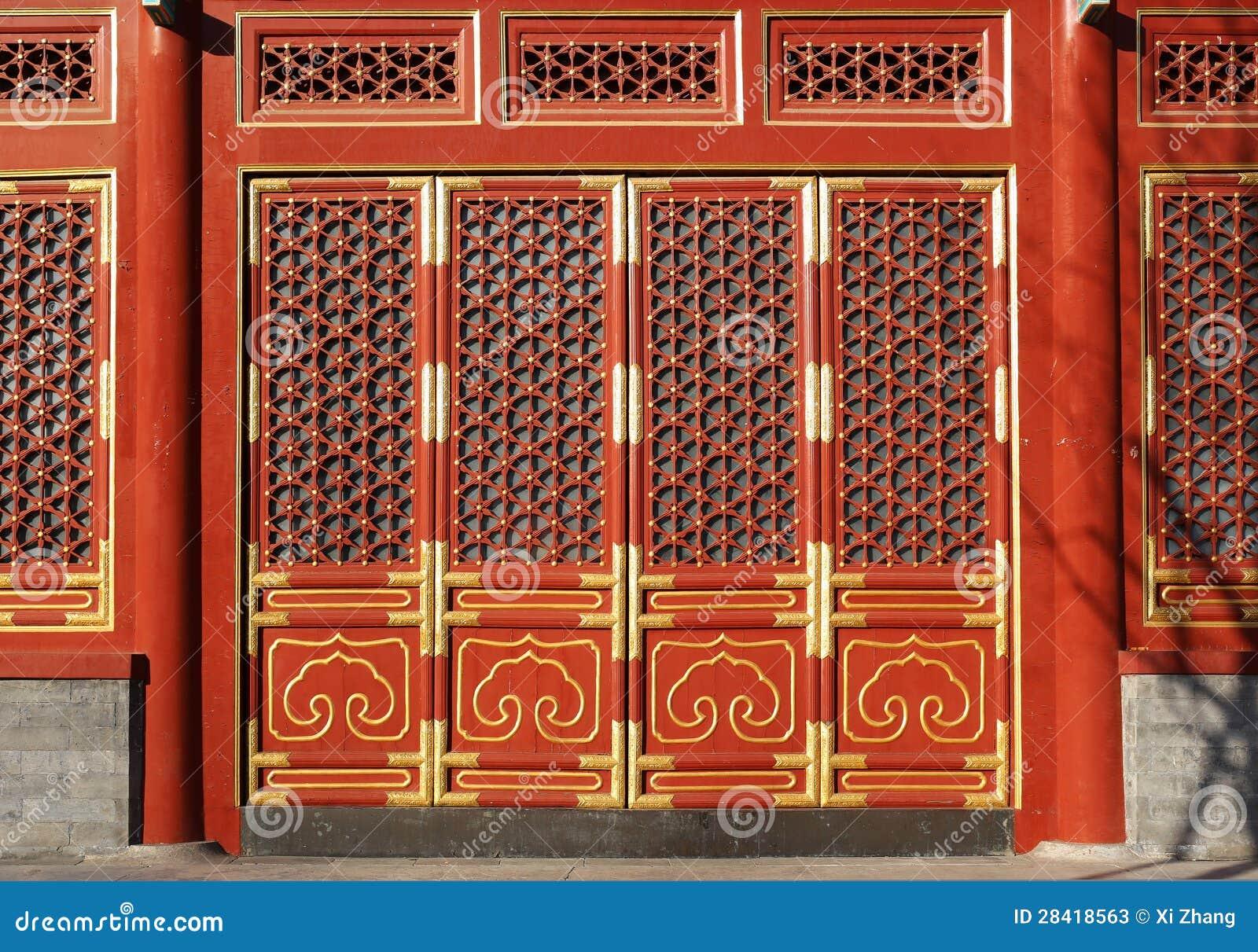 Chinese Doors Stock Image Image Of Travel Pavilion