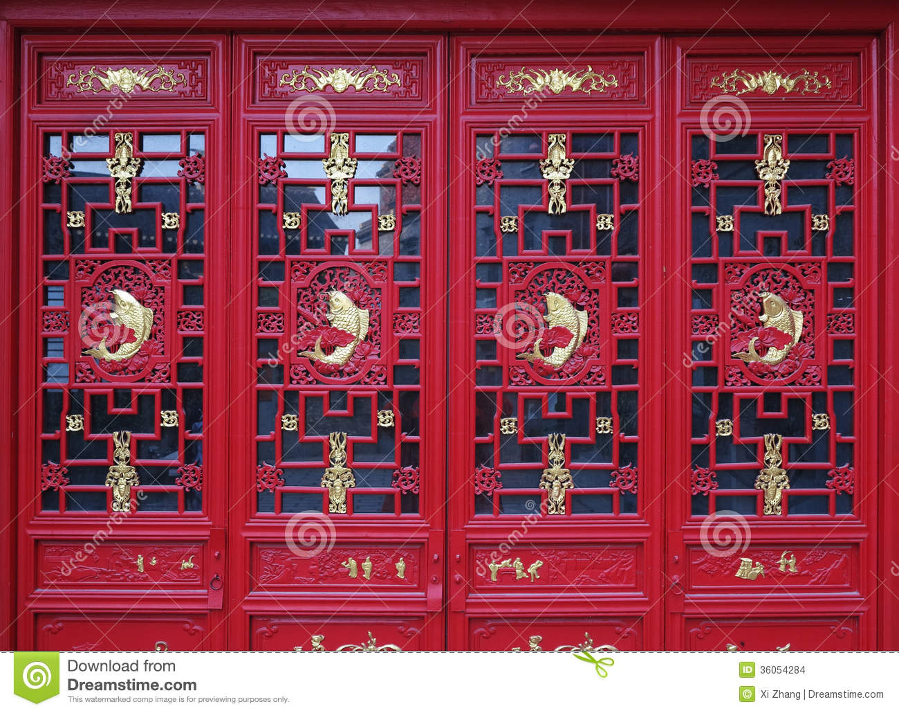 Chinese Doors Stock Images Image 36054284