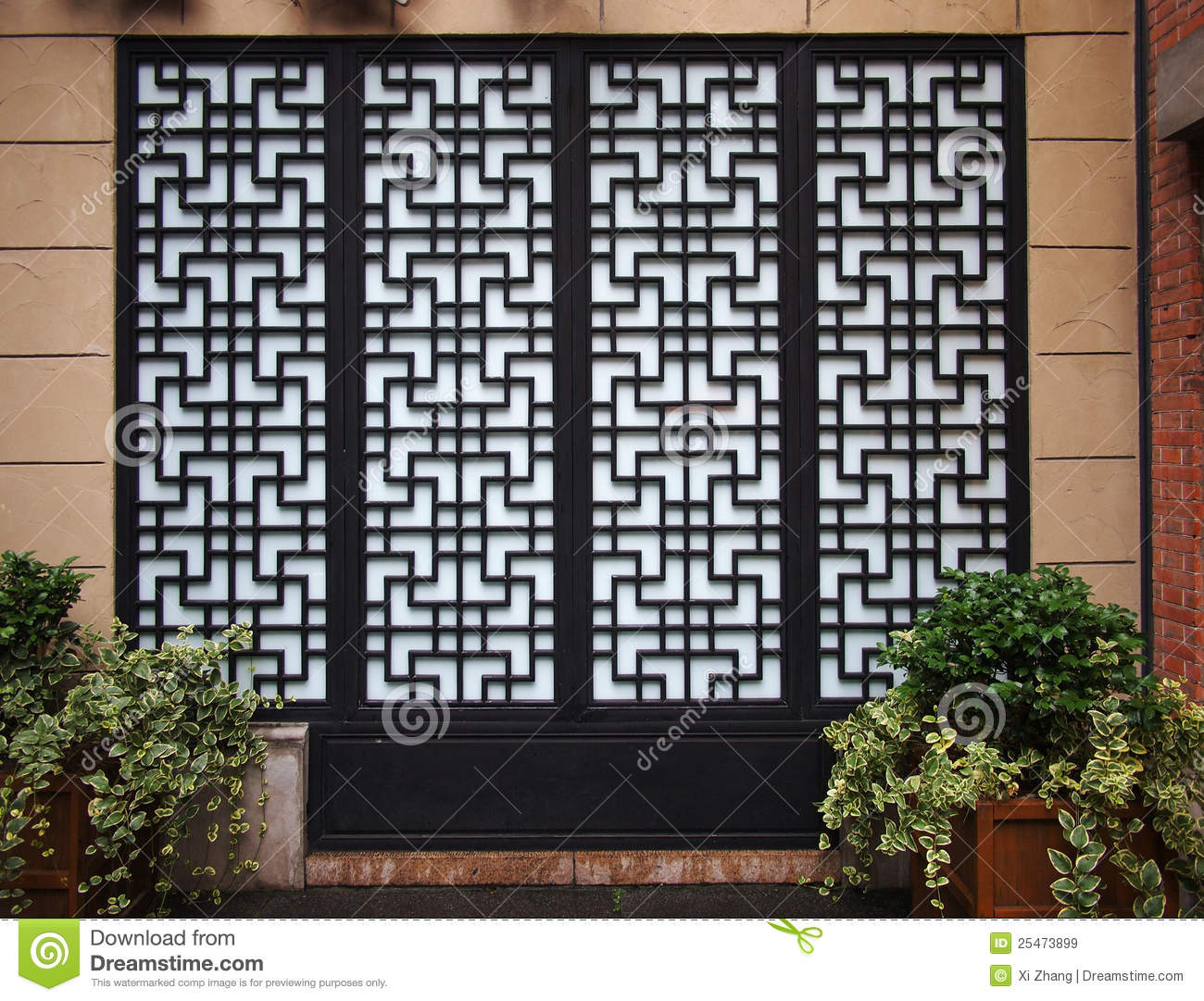 Chinese Doors And Window Stock Image Image Of Building