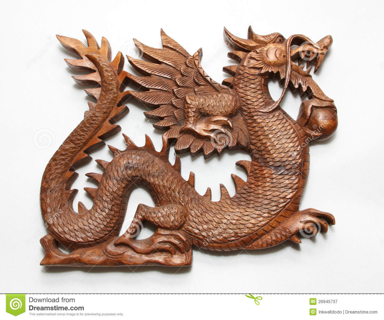 Chinese dragon stock image image of wooden traditional for Wood in chinese