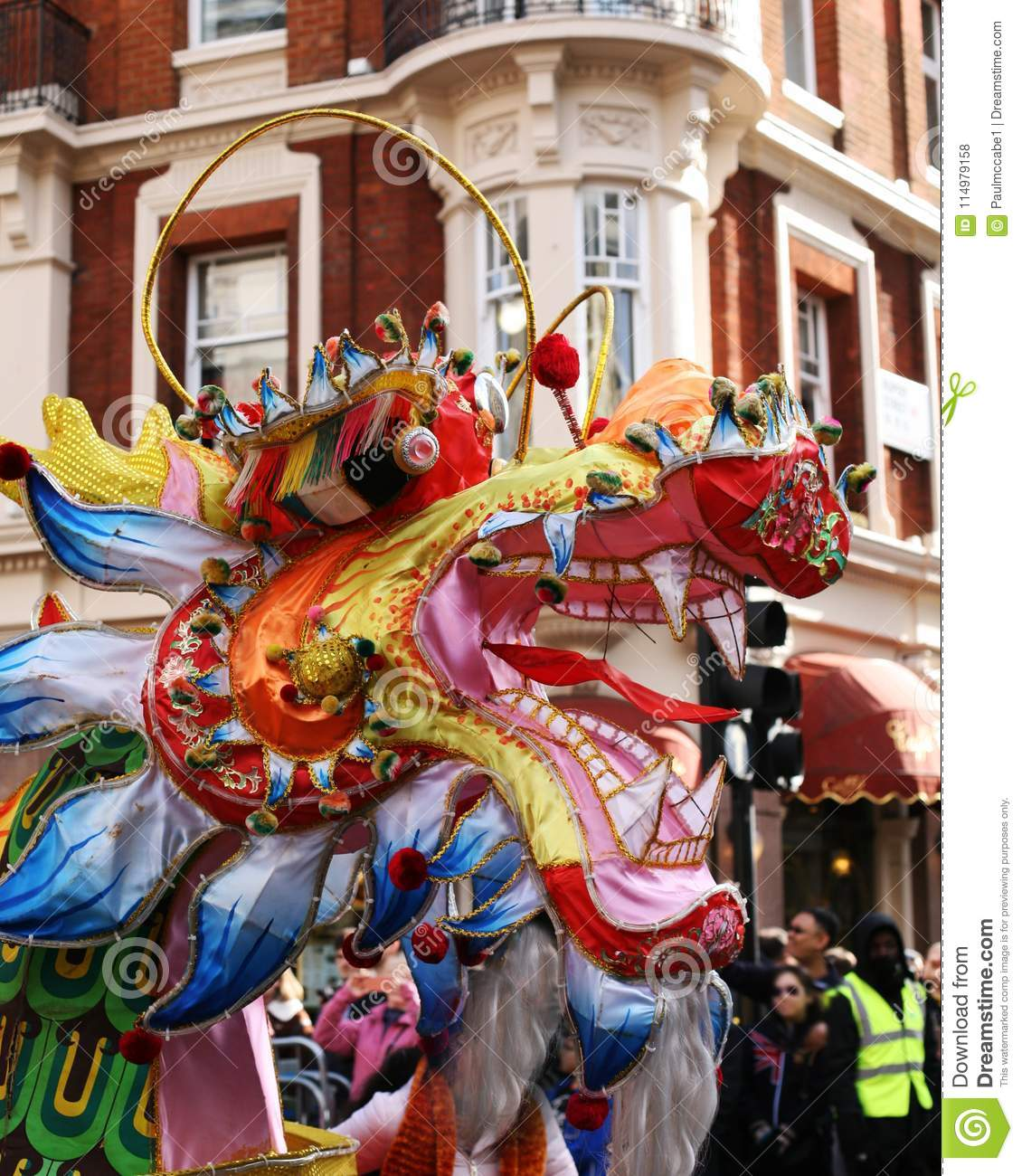 chinese dragon head london chinese new year stock photo image of