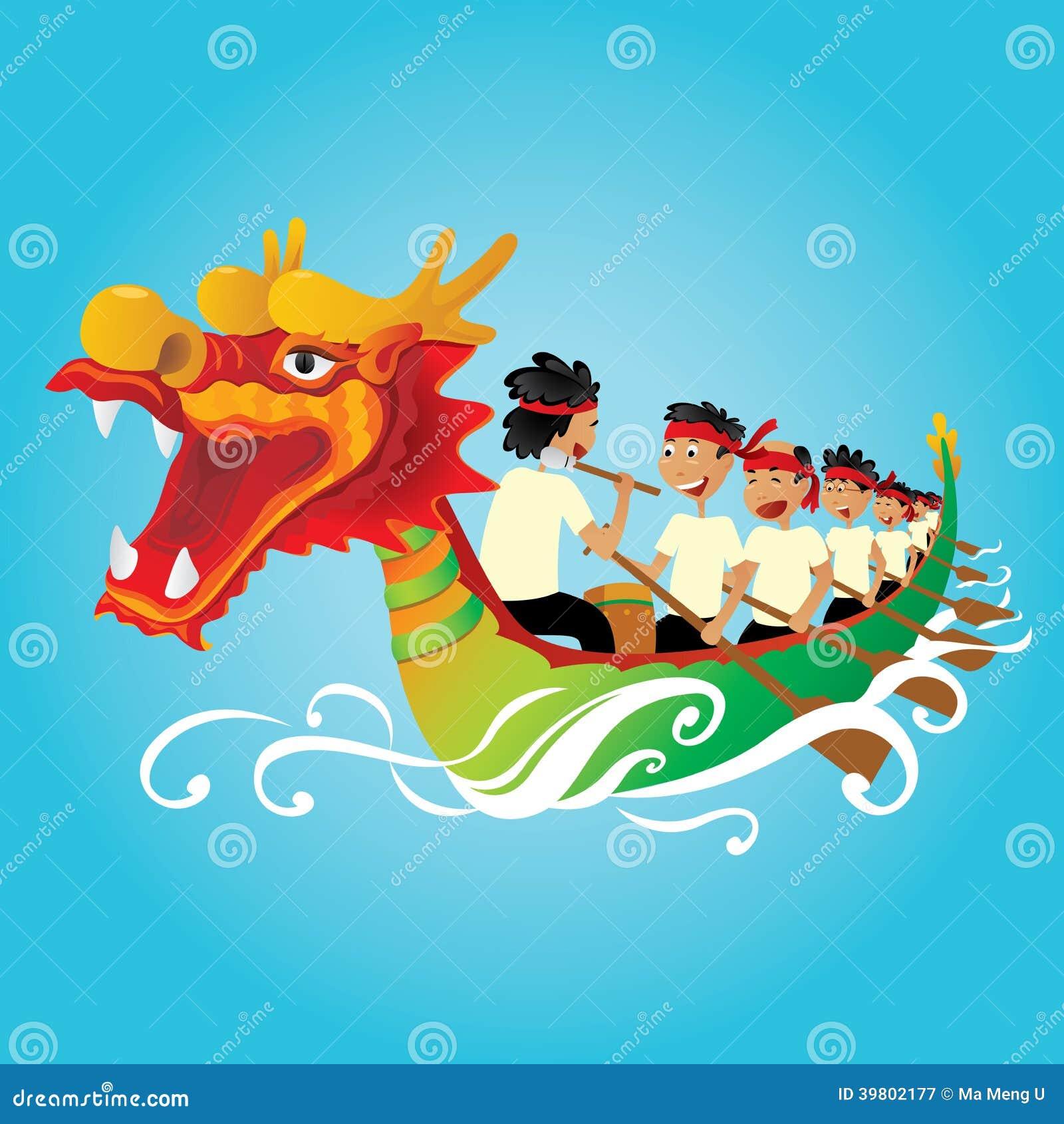 Chinese Dragon Boat-de concurrentieillustratie