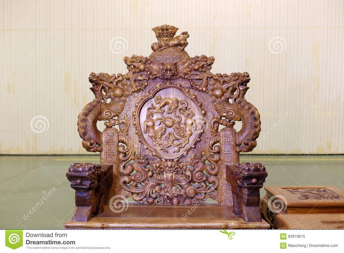 Chinese dragon chair - Chinese Dragon Chair Stock Image. Image Of Elegant, Classic - 82819615