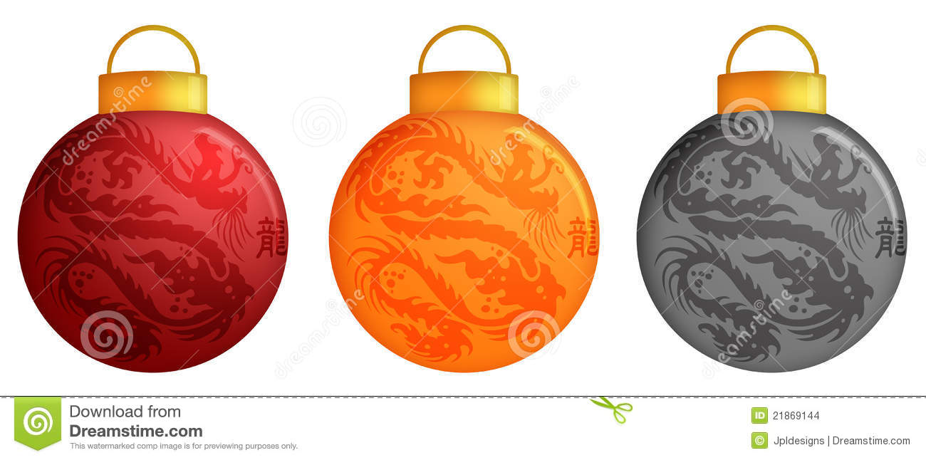 Christmas Ornaments In China : Chinese dragon christmas ornaments stock images image