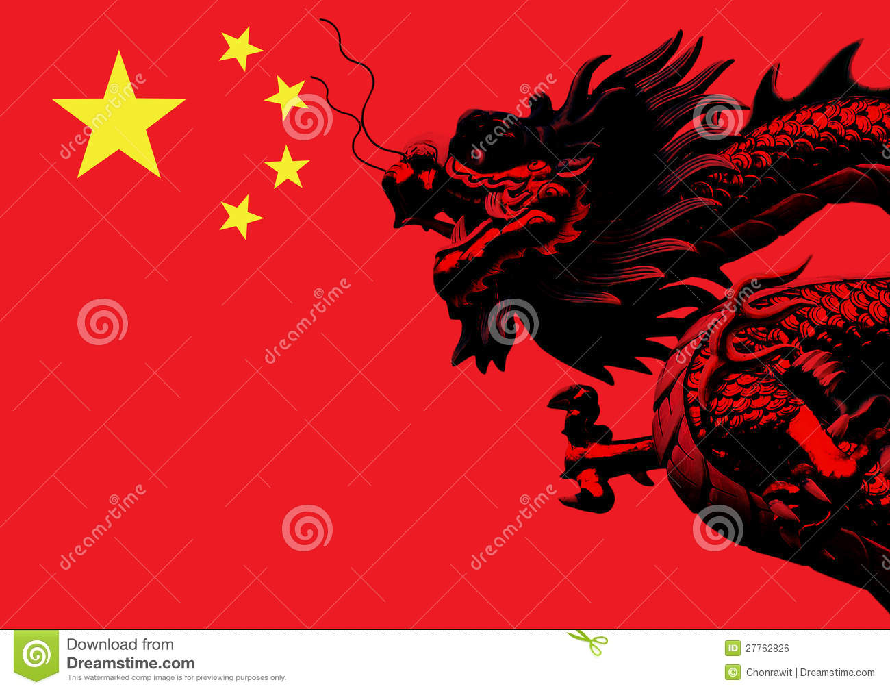 chinese dragon flag stock illustration. image of detail - 27762826, Powerpoint templates