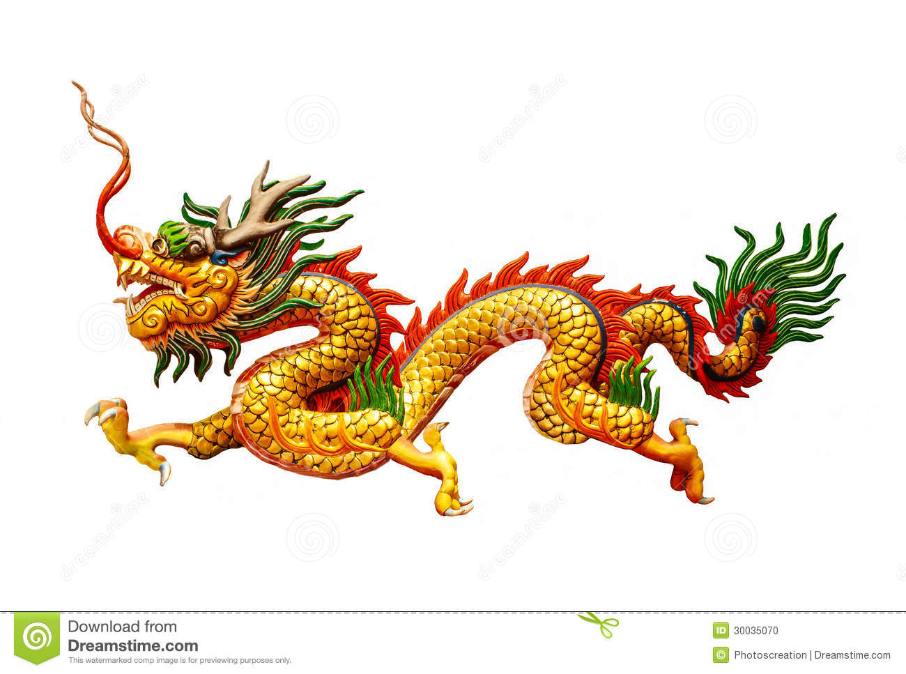 Chinese Dragon On White Background Stock Photo - Image: 30035070