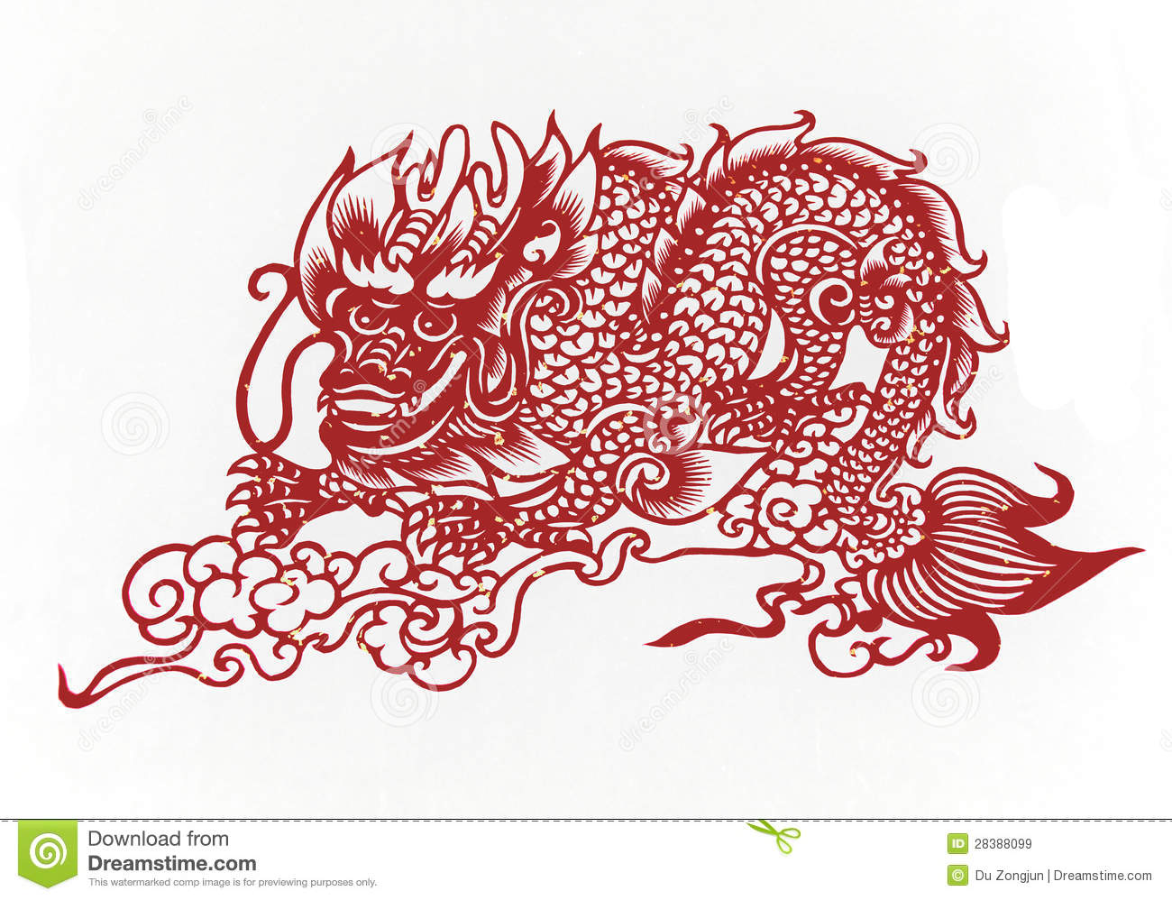 Chinese dragon paper cutting chinese zodiac stock image for Chinese paper cutting templates dragon