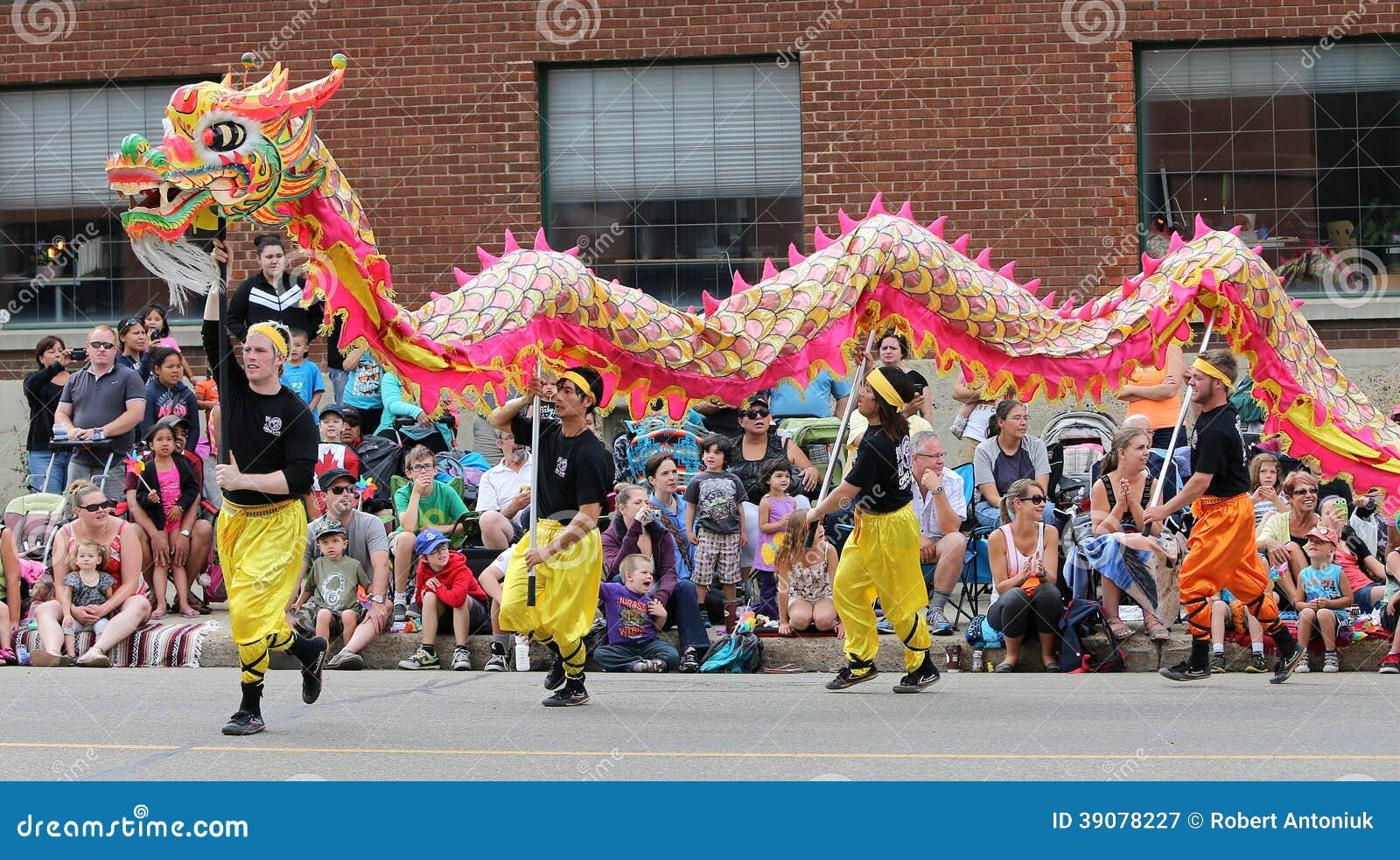 Asian parade dragon