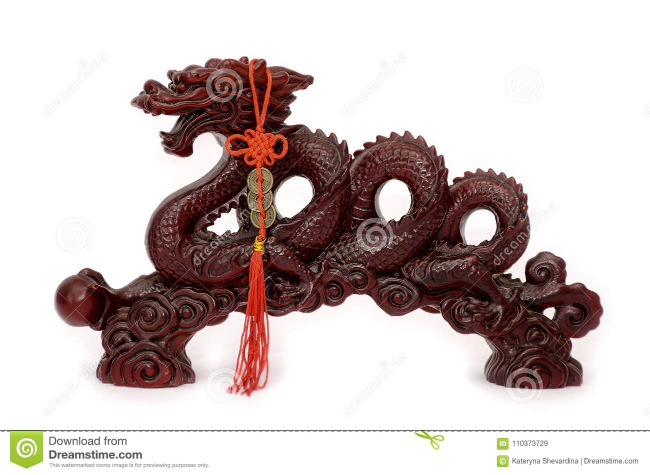 Chinese Dragon With A Pearl Stock Image Image Of Wealth Coins