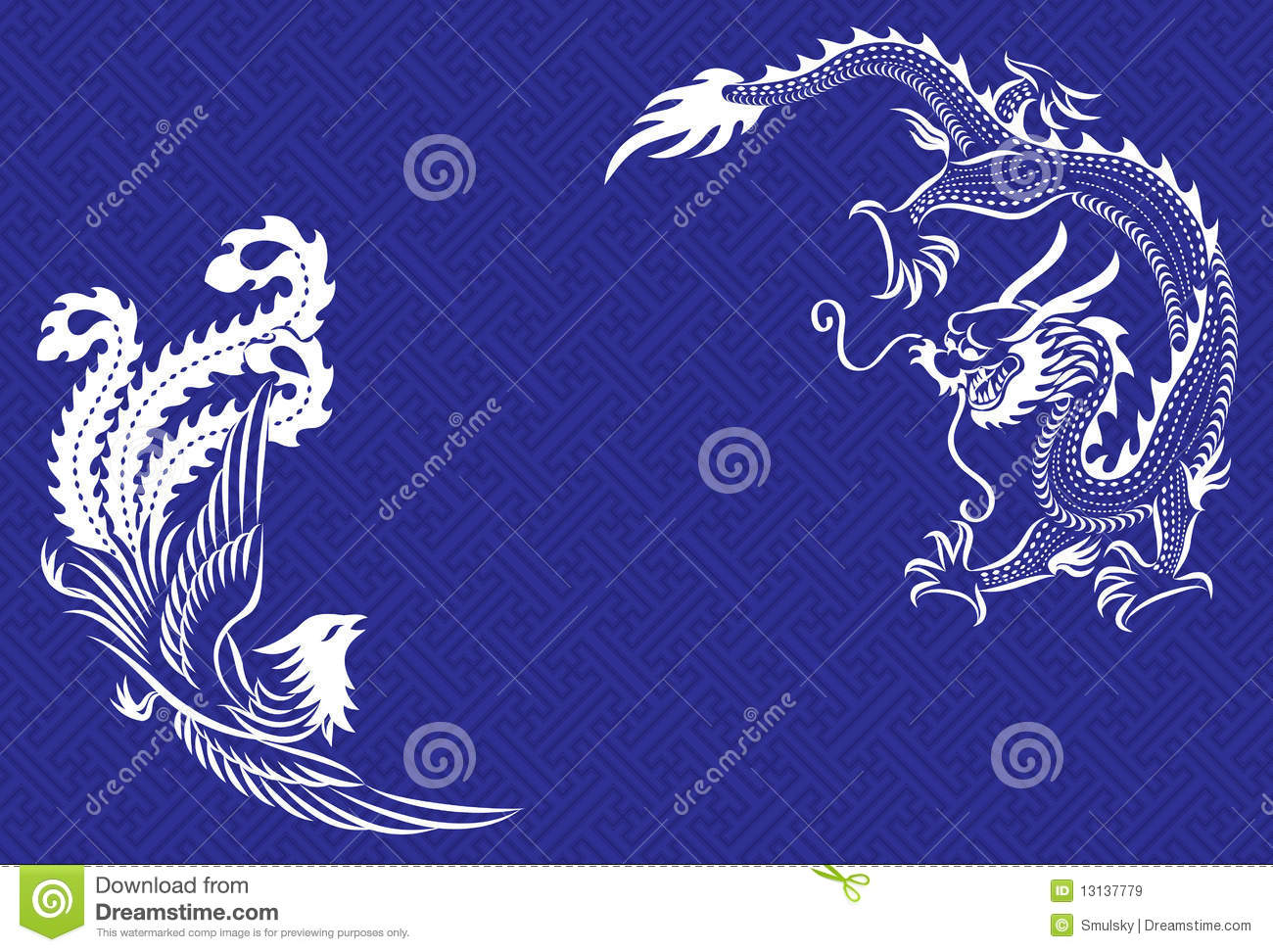 Chinese Dragon And Phoenix Food