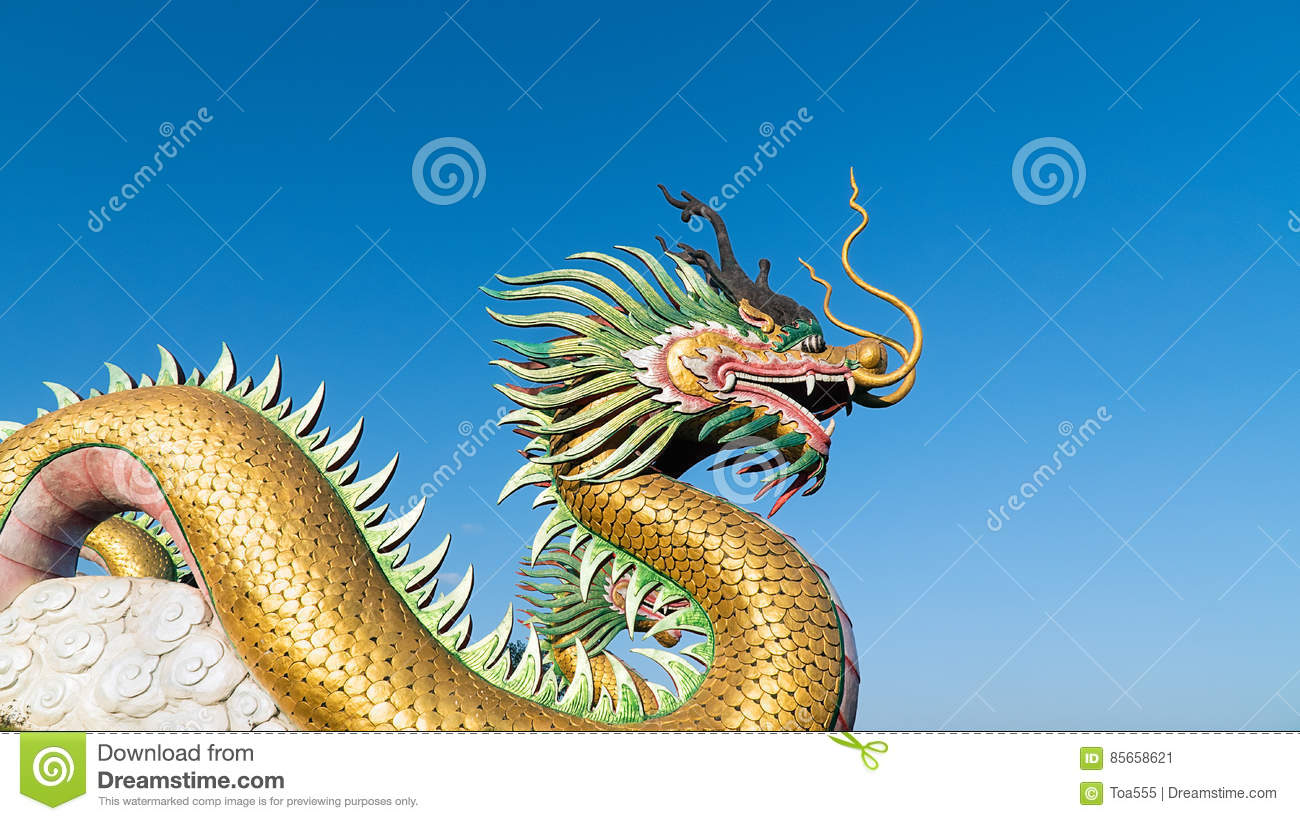 Chinese Dragon with sky