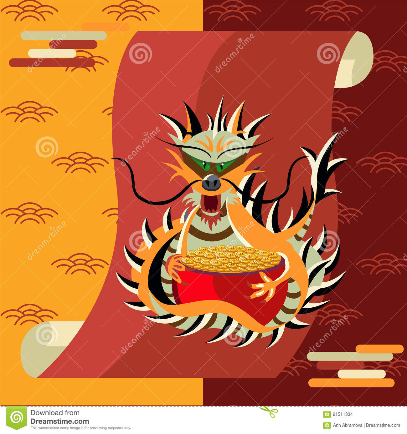 Chinese dragon symbol of wealth and wisdom vector illustration chinese dragon symbol of wealth and wisdom vector illustration biocorpaavc