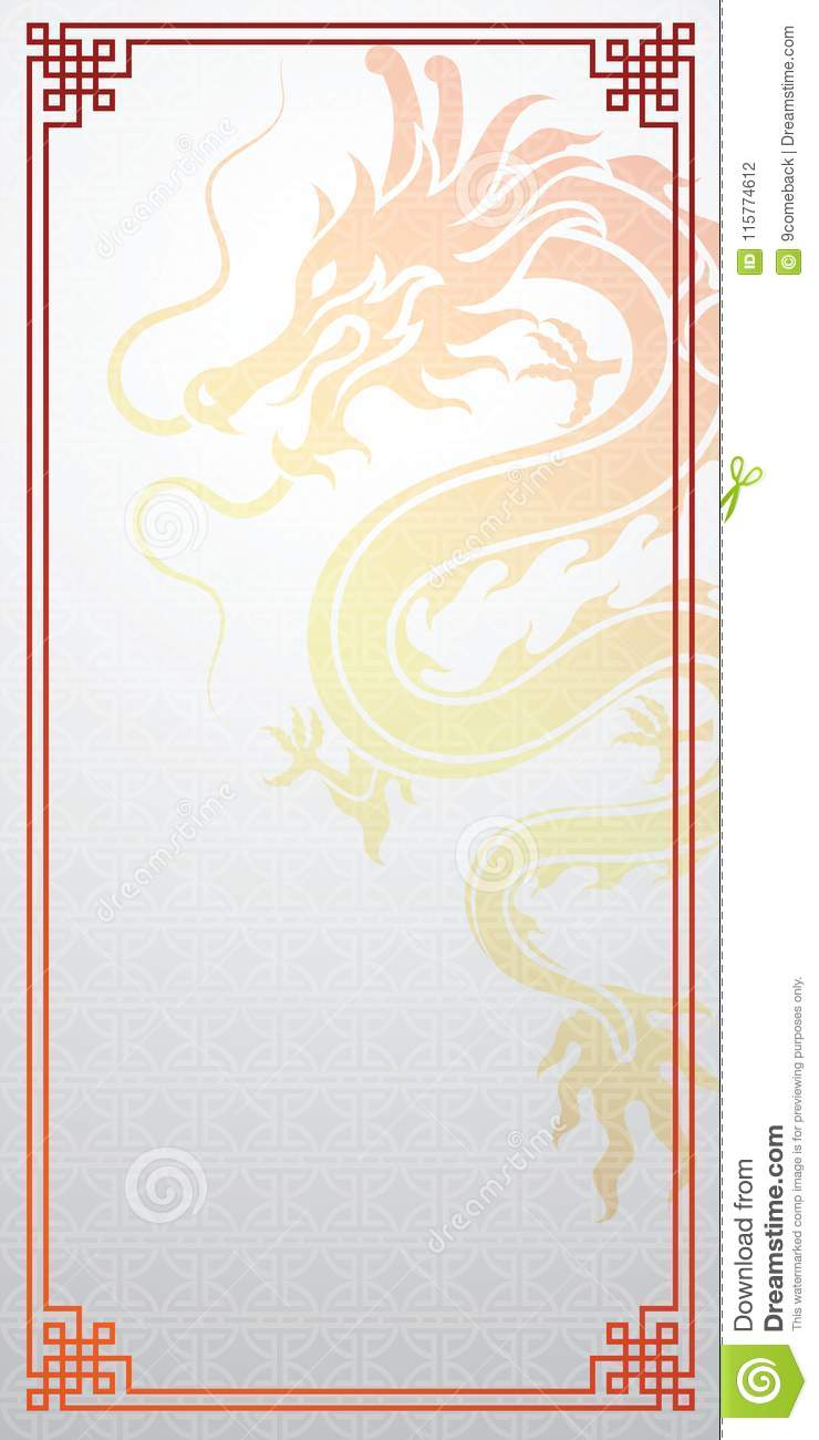 chinese dragon template stock vector illustration of style 115774612