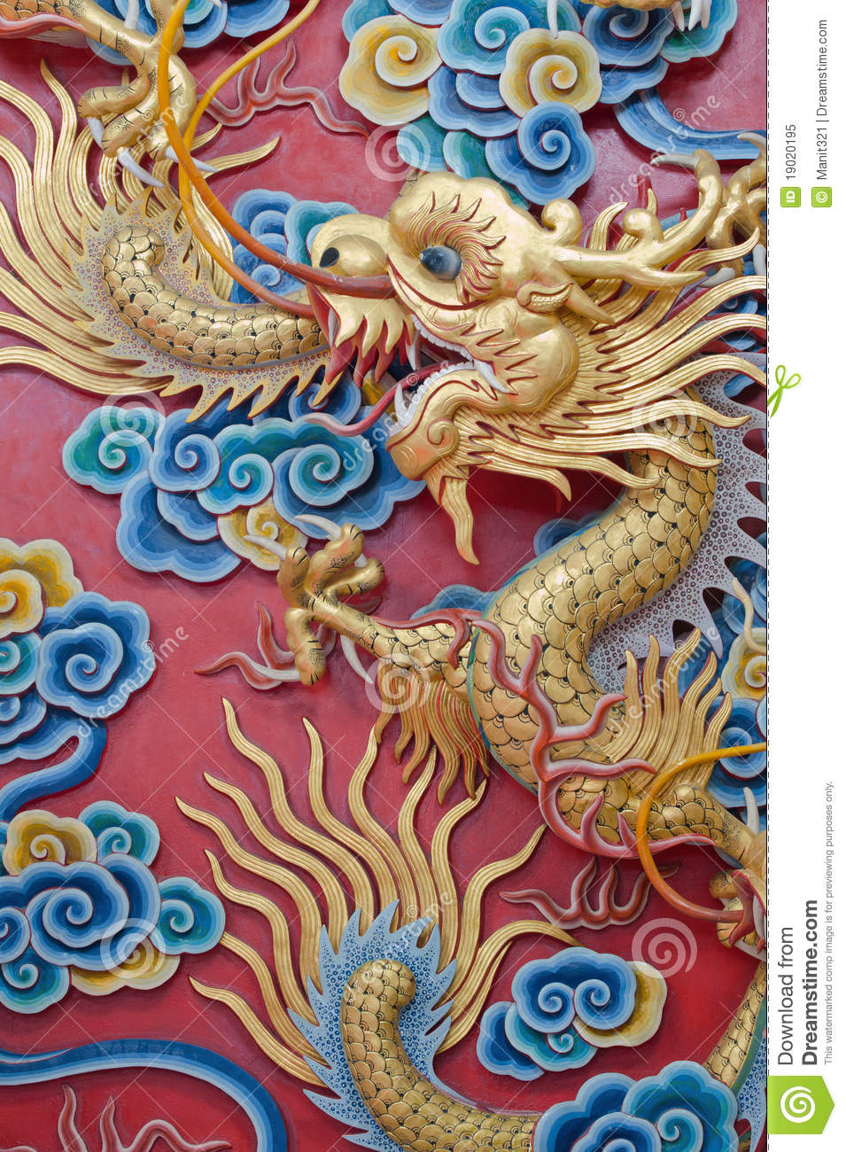 Chinese Dragon in Temple.