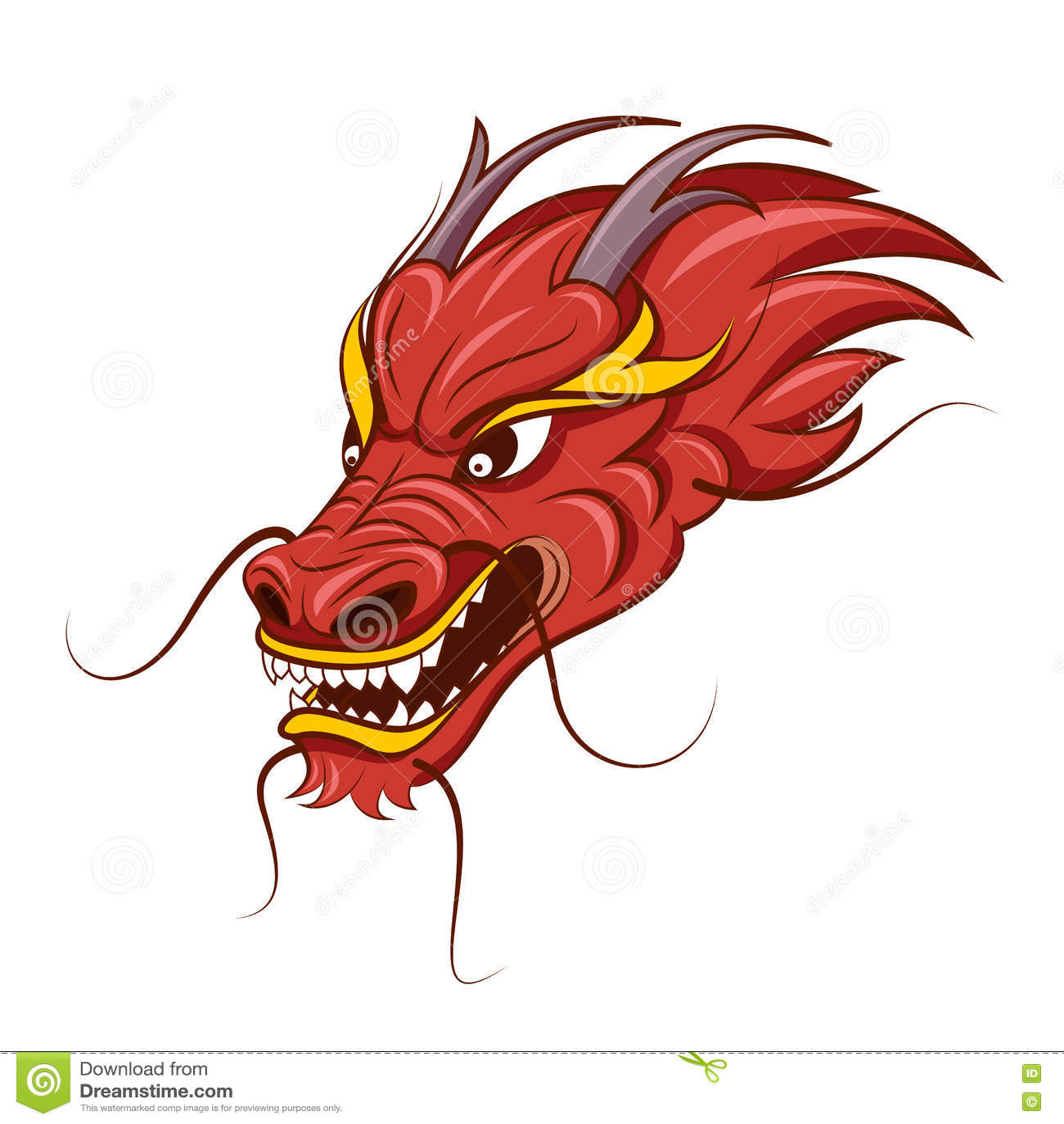 Ornament redhead and dragon