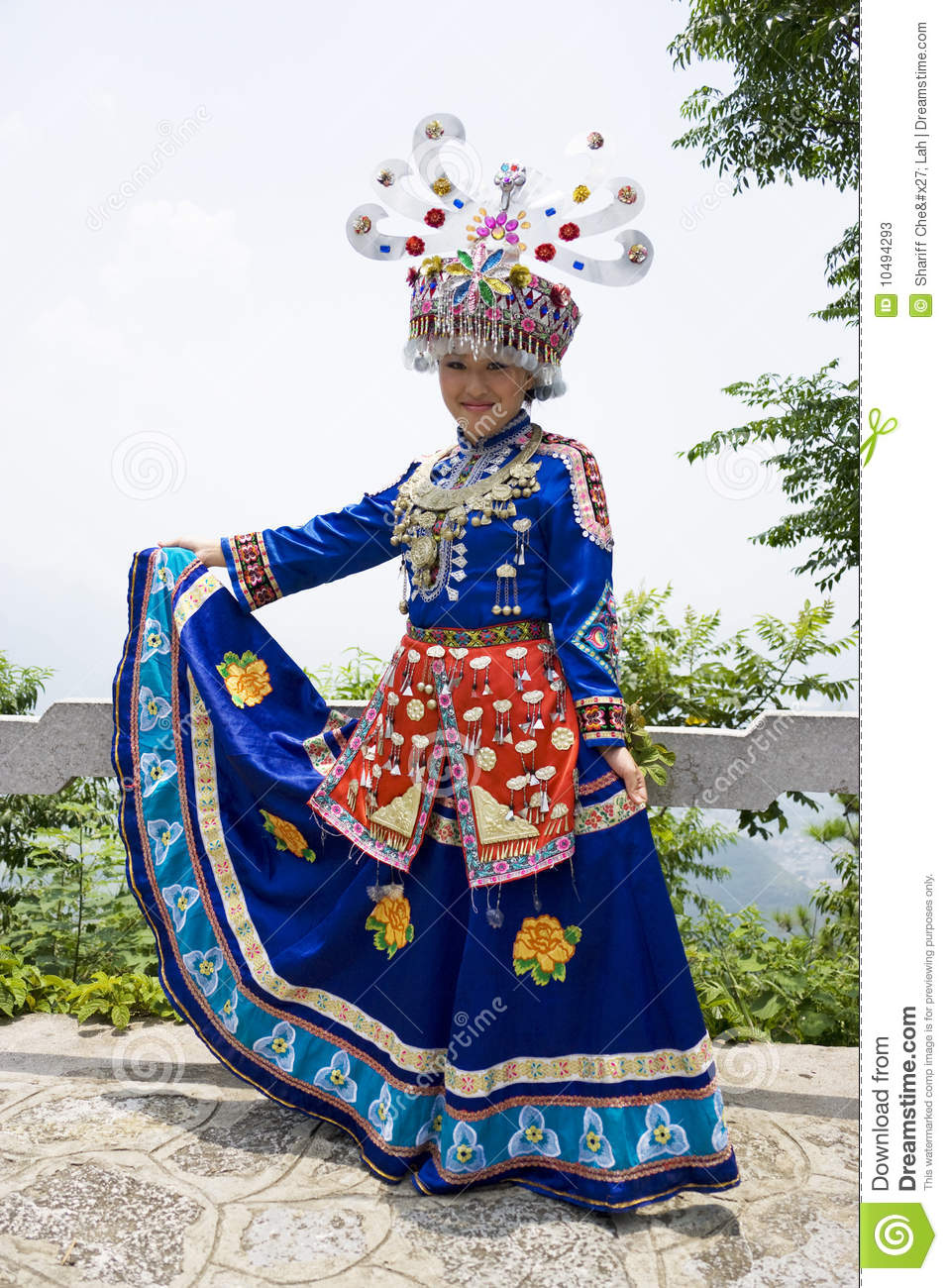 Download Chinese Ethnic Girl In Traditional Dress Stock Image - Image of tribal teens  sc 1 st  Dreamstime.com & Chinese Ethnic Girl In Traditional Dress Stock Image - Image of ...