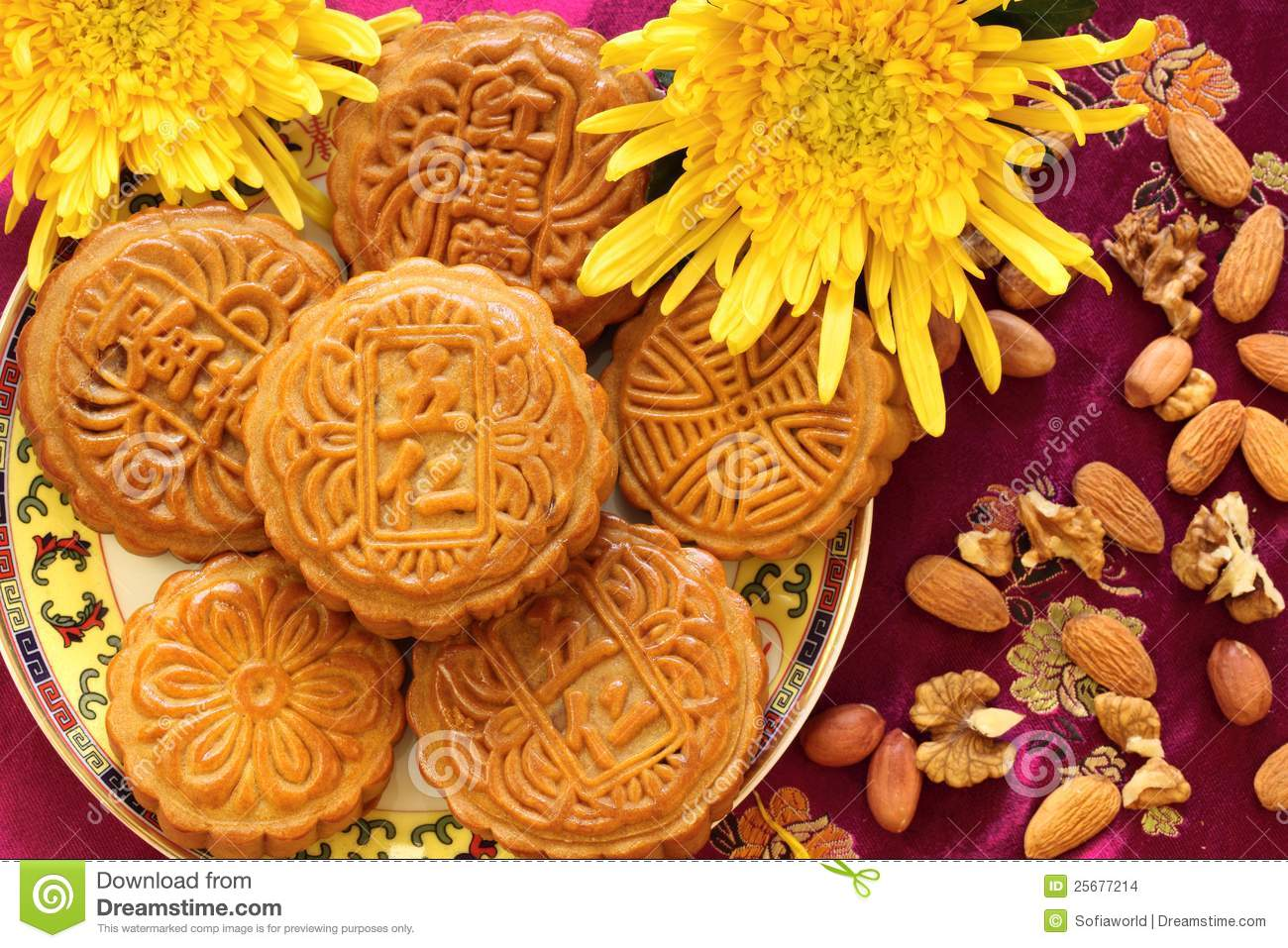 Chinese Moon Cakes Design