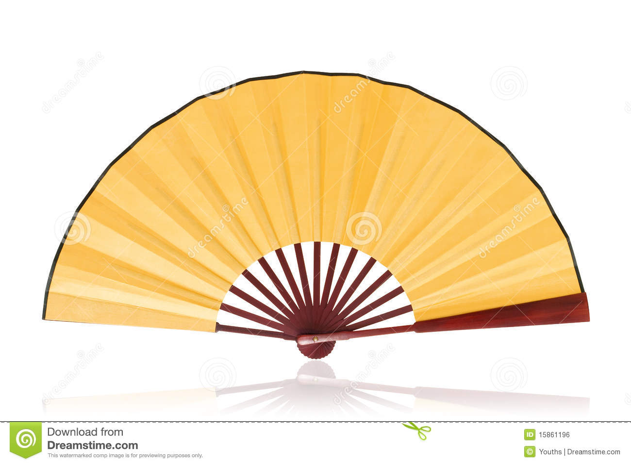 Chinese Fan Clipping Path Royalty Free Stock Image