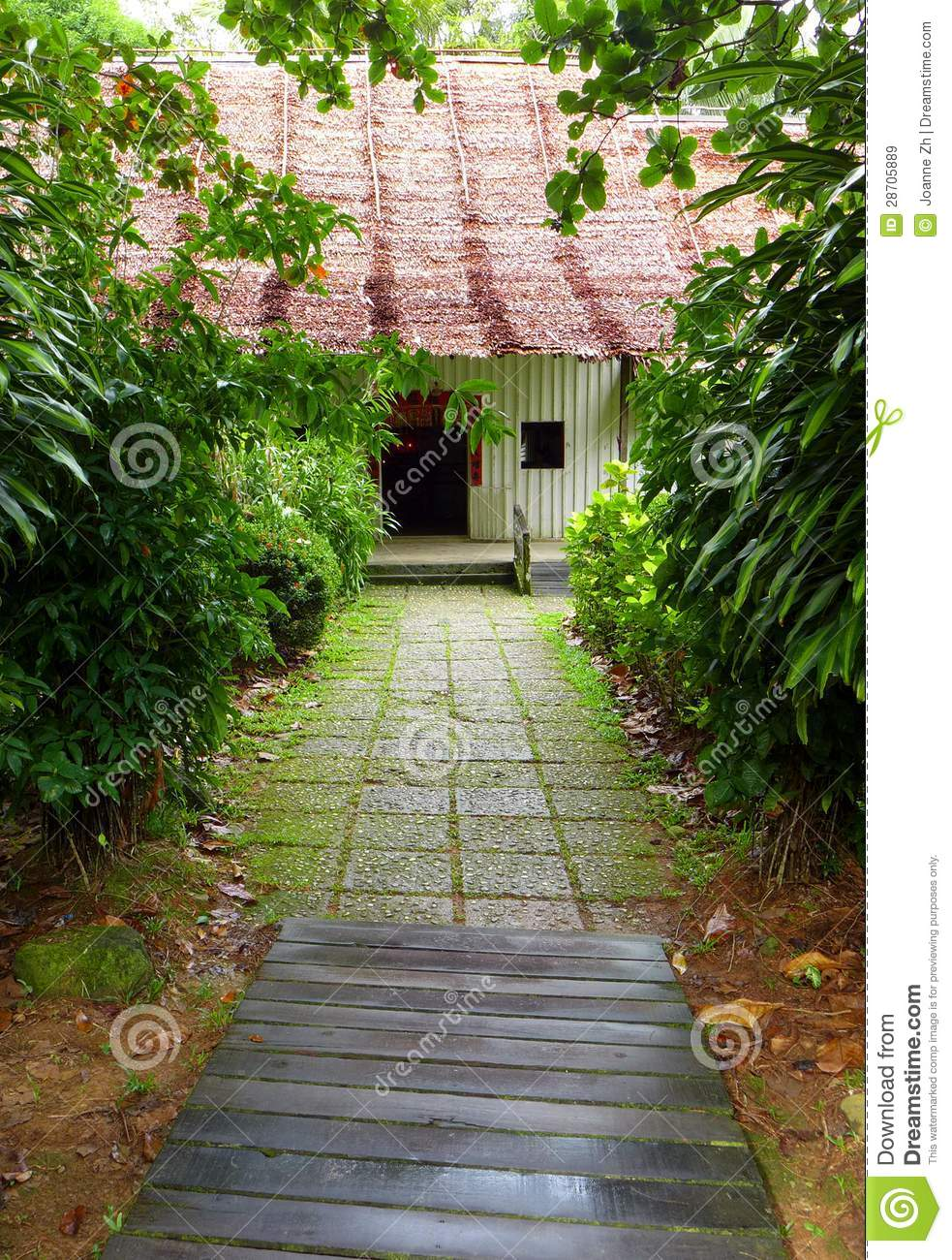 Chinese Farmhouse Architecture In Tropics Royalty Free