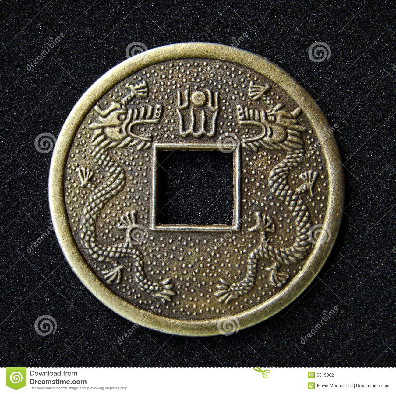Chinese feng shui coin stock photography image 6015062 - Feng shui good luck coins ...