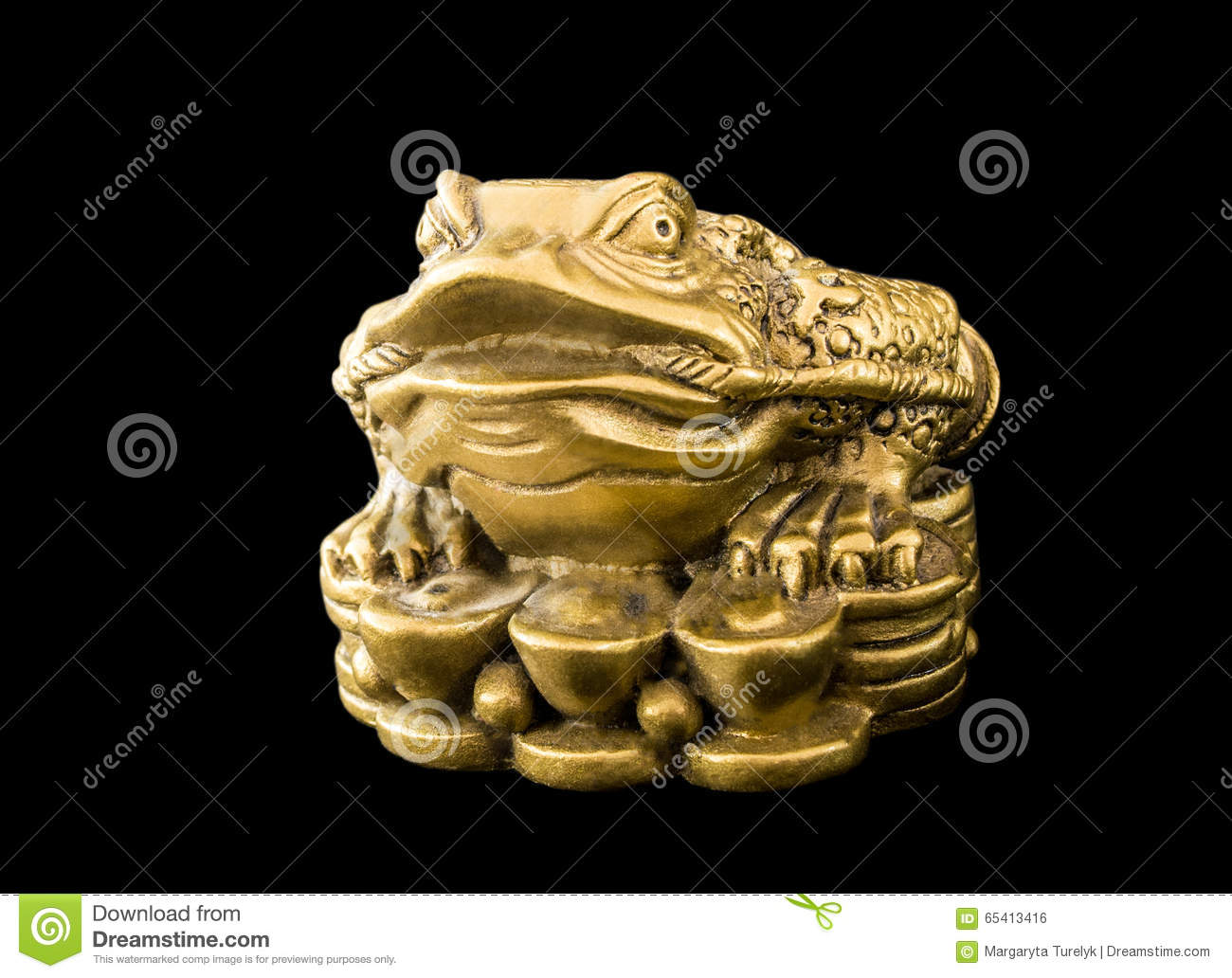 Chinese Feng Shui Frog With Coins Symbol For Stock Photo Image Of