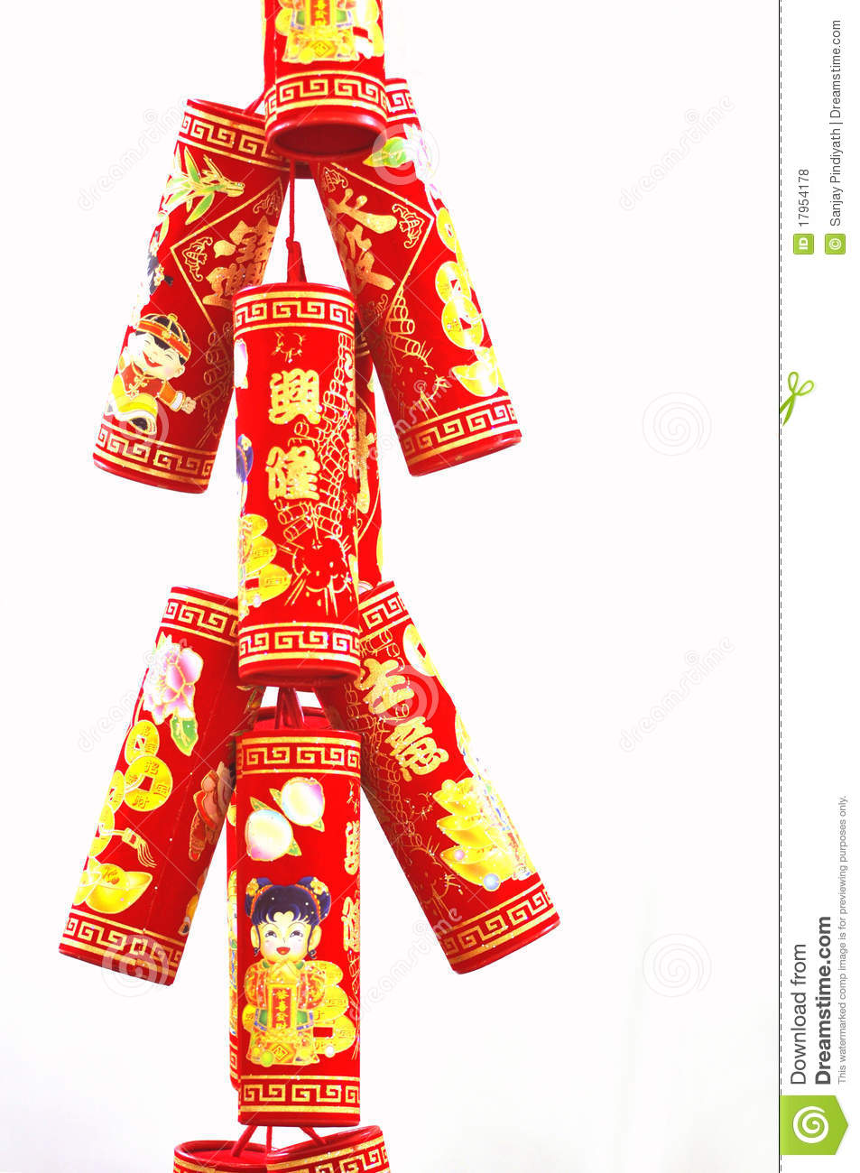 Fire crackers related to chinese lunar