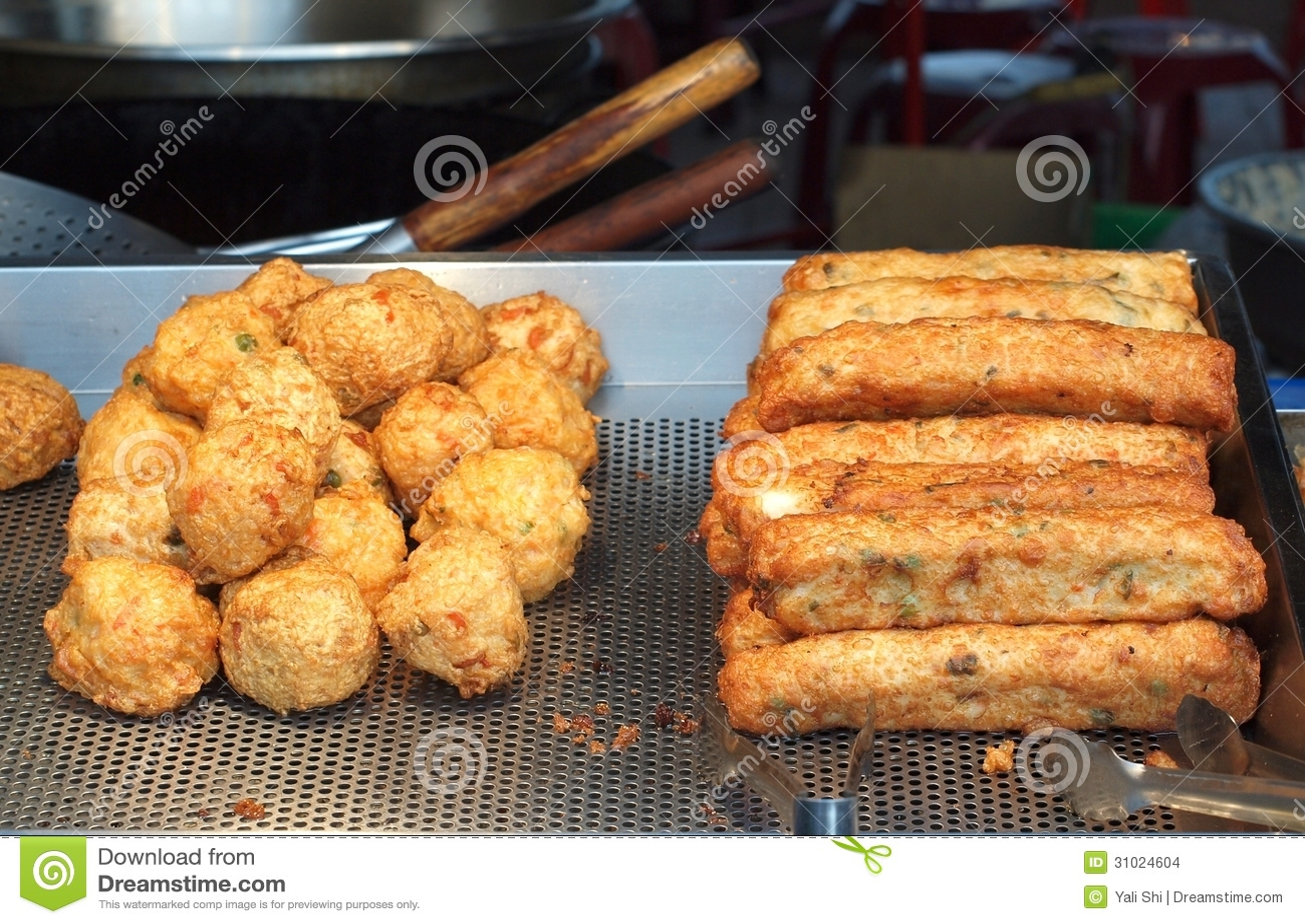 Chinese fish balls and fish sausages stock images image for Chinese fish balls
