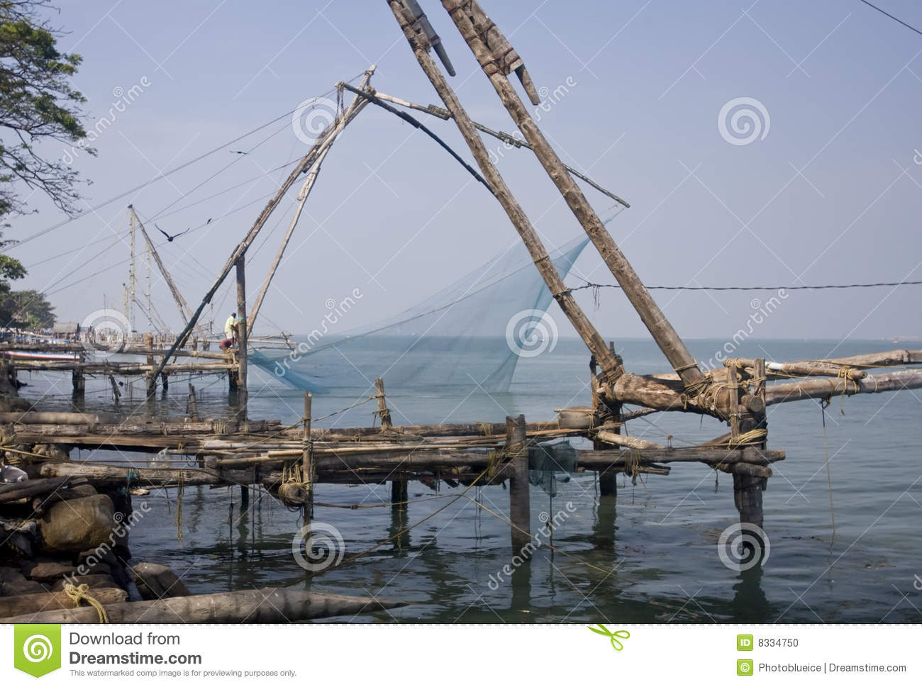 Fishing nets on a pier stock photo image 8334750 for Pier fishing net