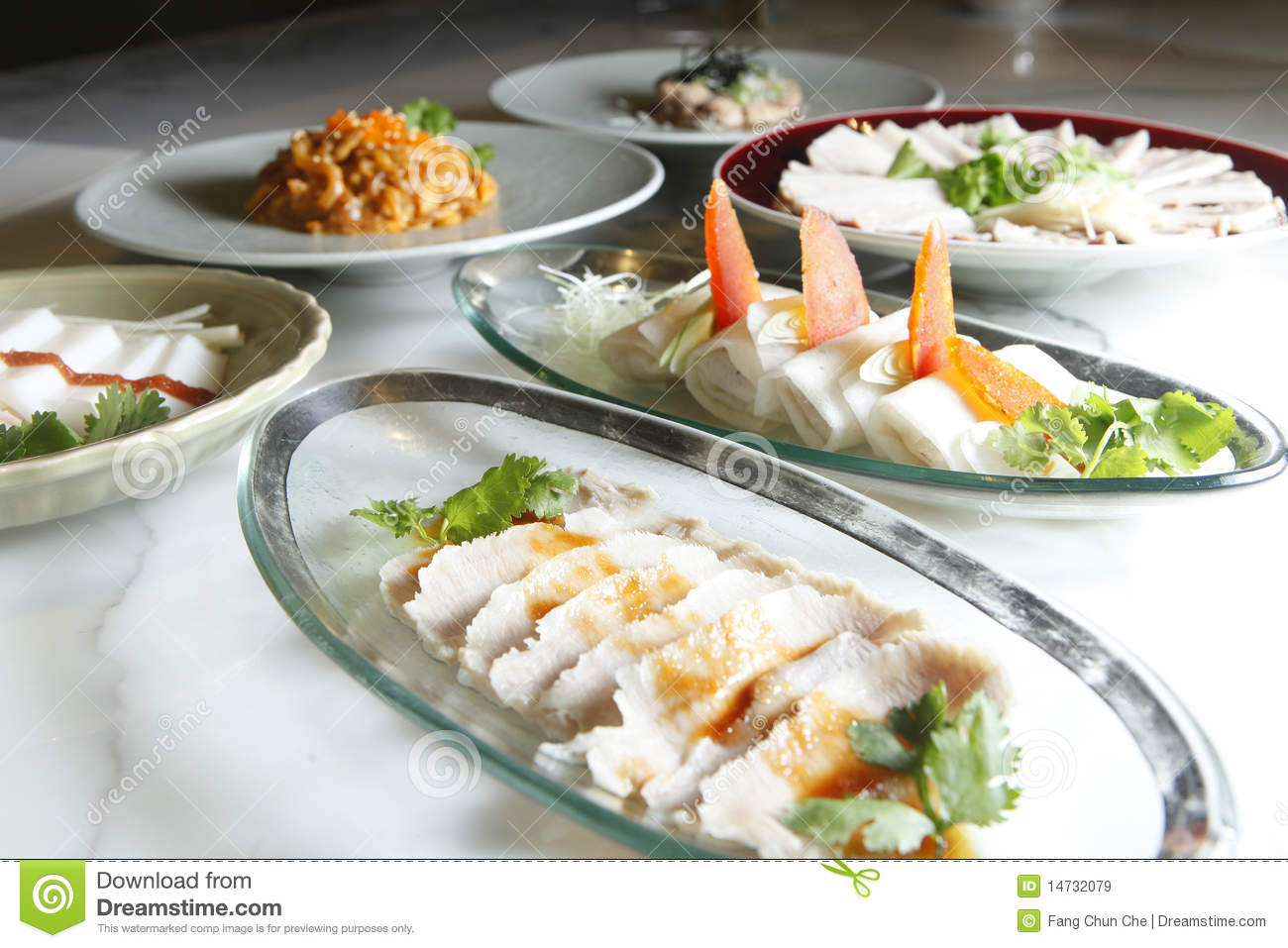 chinese food appetizers royalty free stock images