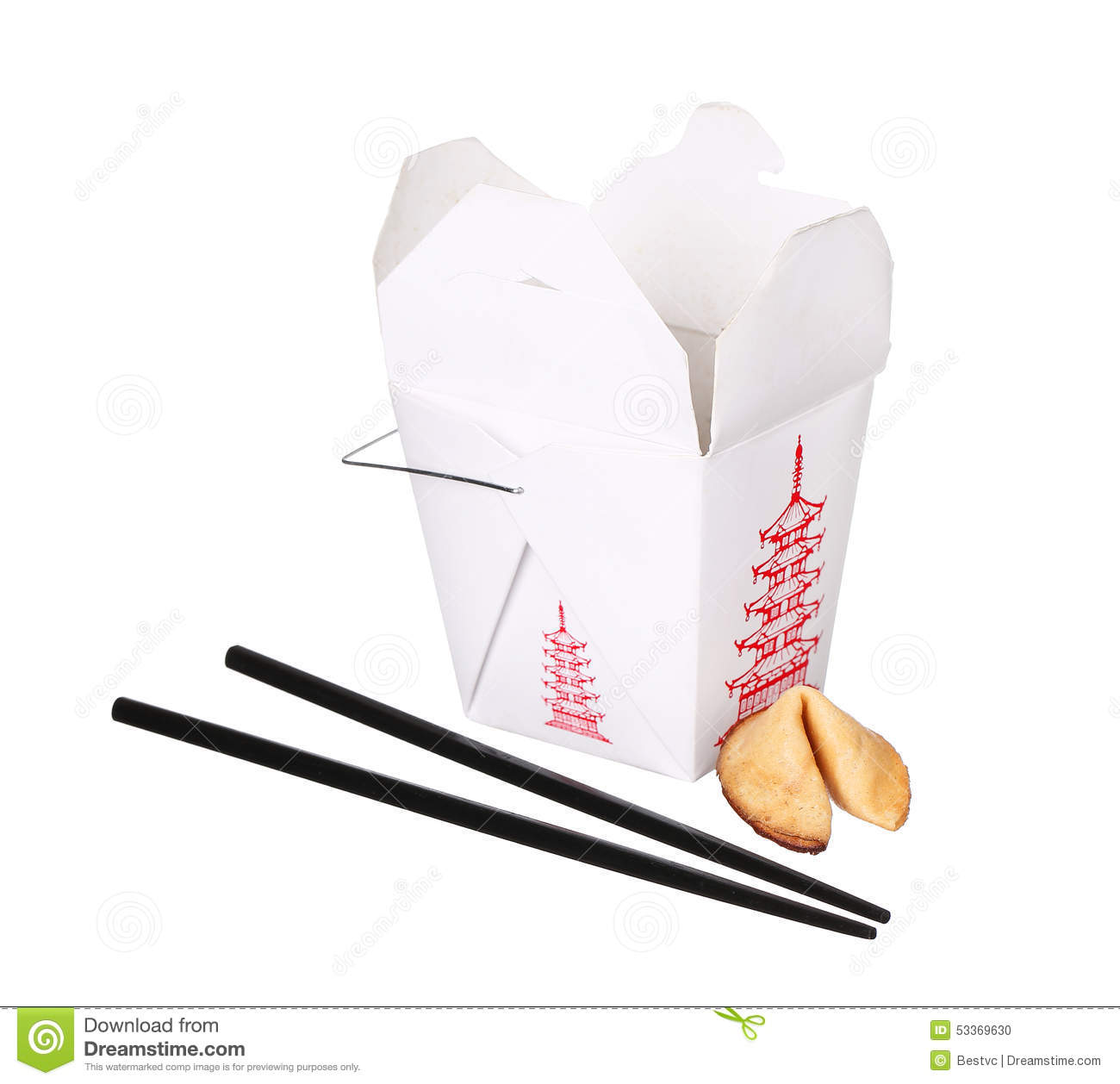 chinese food box container with fortune cookie and fortune cookie clipart free Chinese Food Clip Art