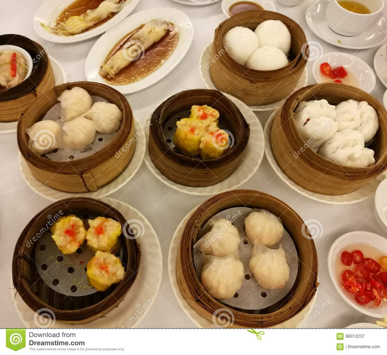 Chinese food in china town variety of dim sum set in the for Ancient chinese cuisine