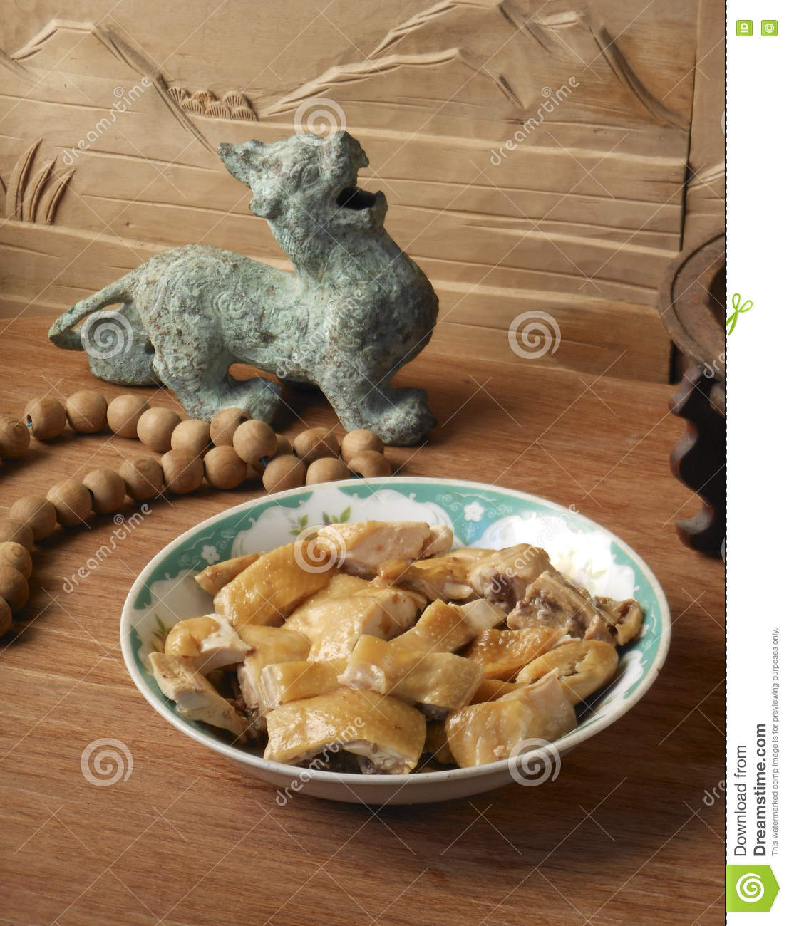 Chinese food and curios stock image  Image of dinner - 72057757