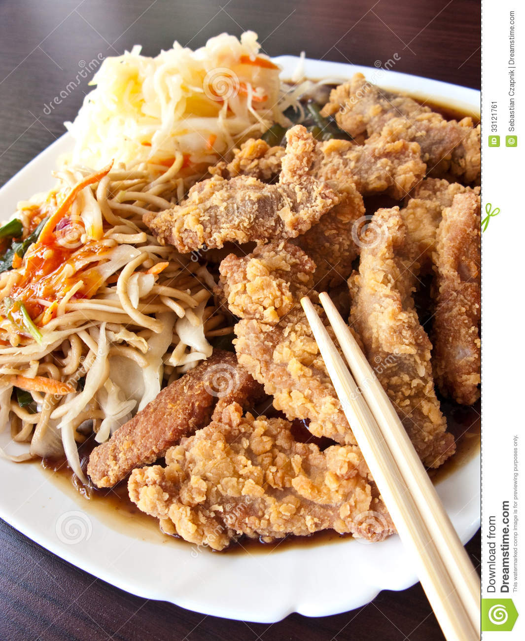 Chinese food in elegant restaurant stock image image 33121761 - Delicious chinese cuisine ...