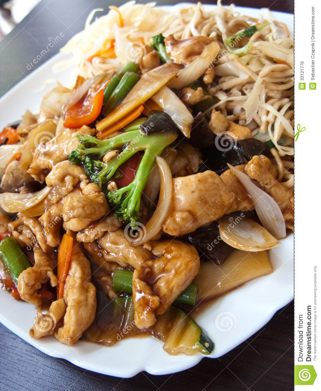 Chinese food in elegant restaurant stock photo image 33121770 - Delicious chinese cuisine ...