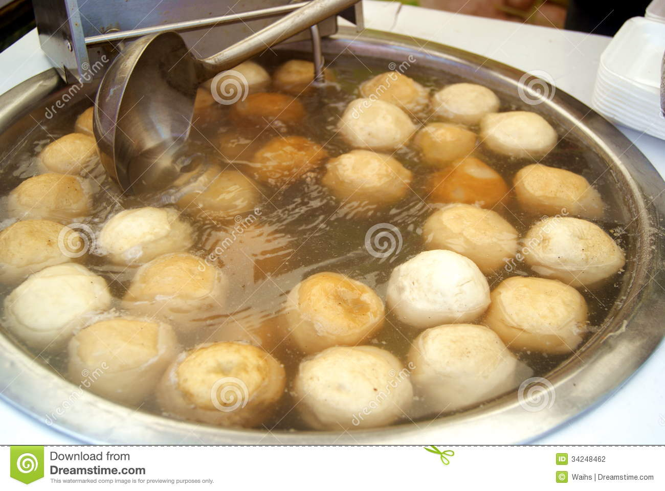 Chinese food fish balls stock photography image 34248462 for Chinese fish balls