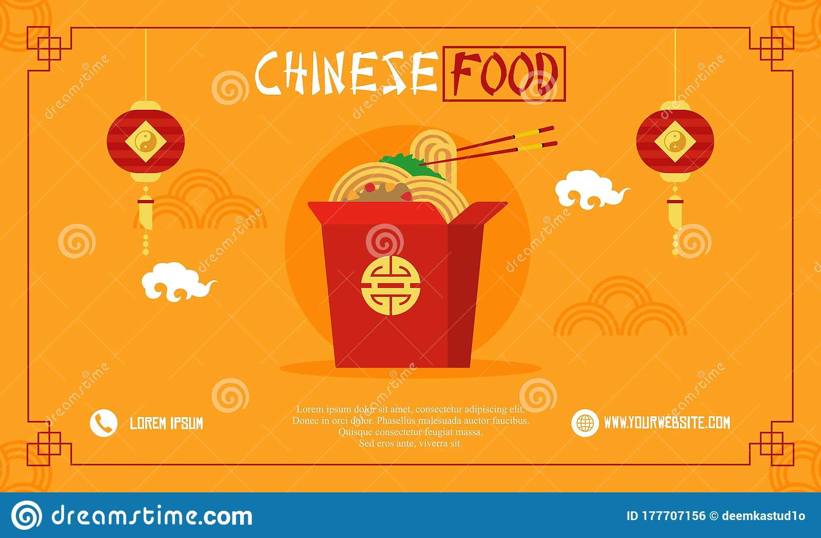 Chinese Food Flyer Logo Template Menu Restaurant Chinese Vector Editorial Photo Illustration Of Containsnjpg China 177707156