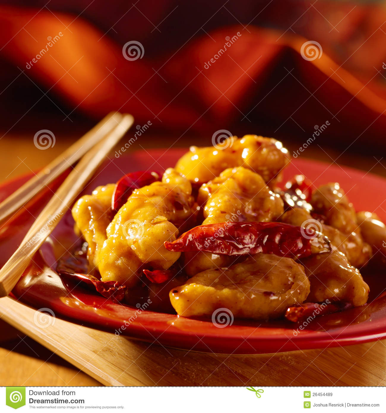 Chinese food -General Tso s chicken.