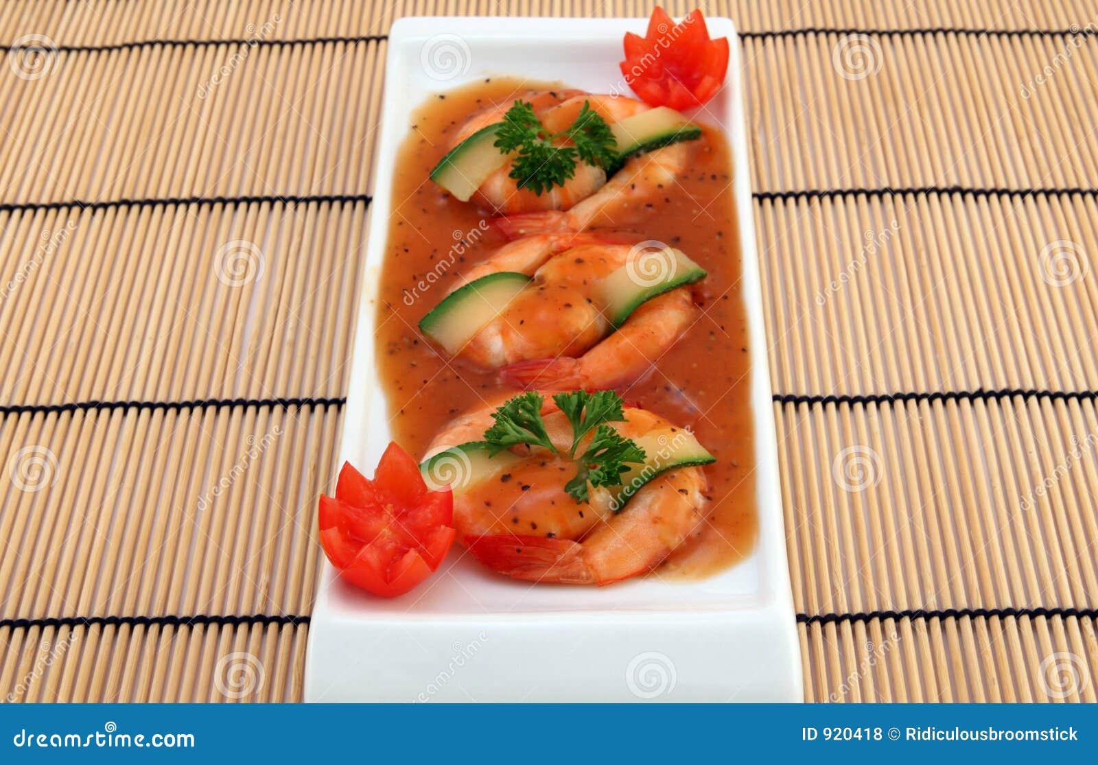 Chinese food - Gourmet broiled king tiger prawns