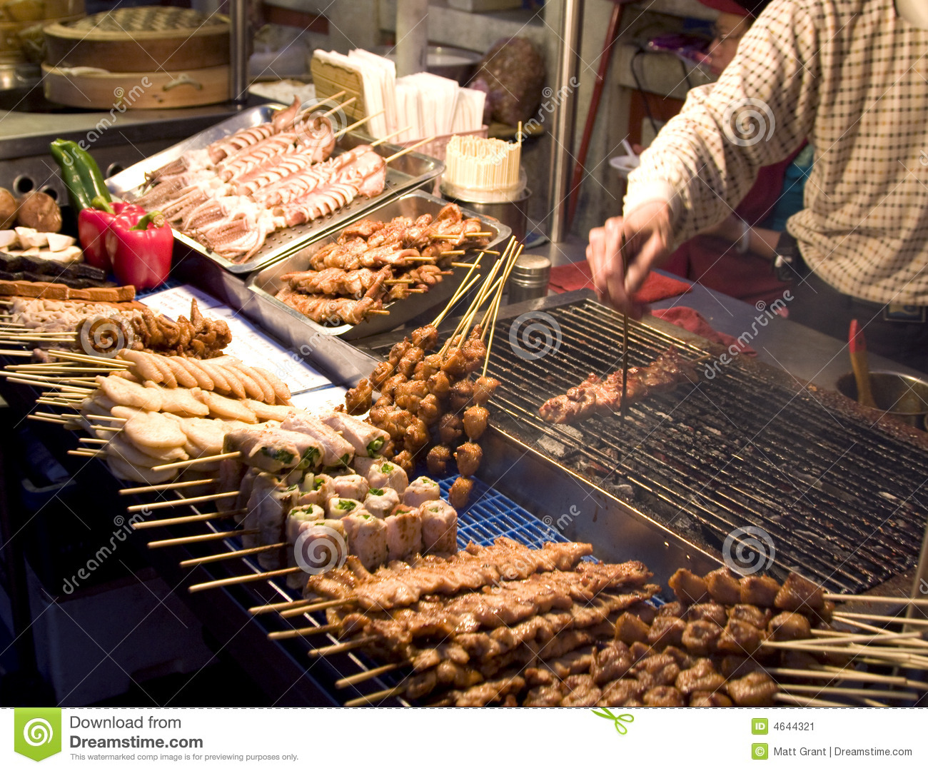 Chinese food market stock image image 4644321 for Outdoor food market