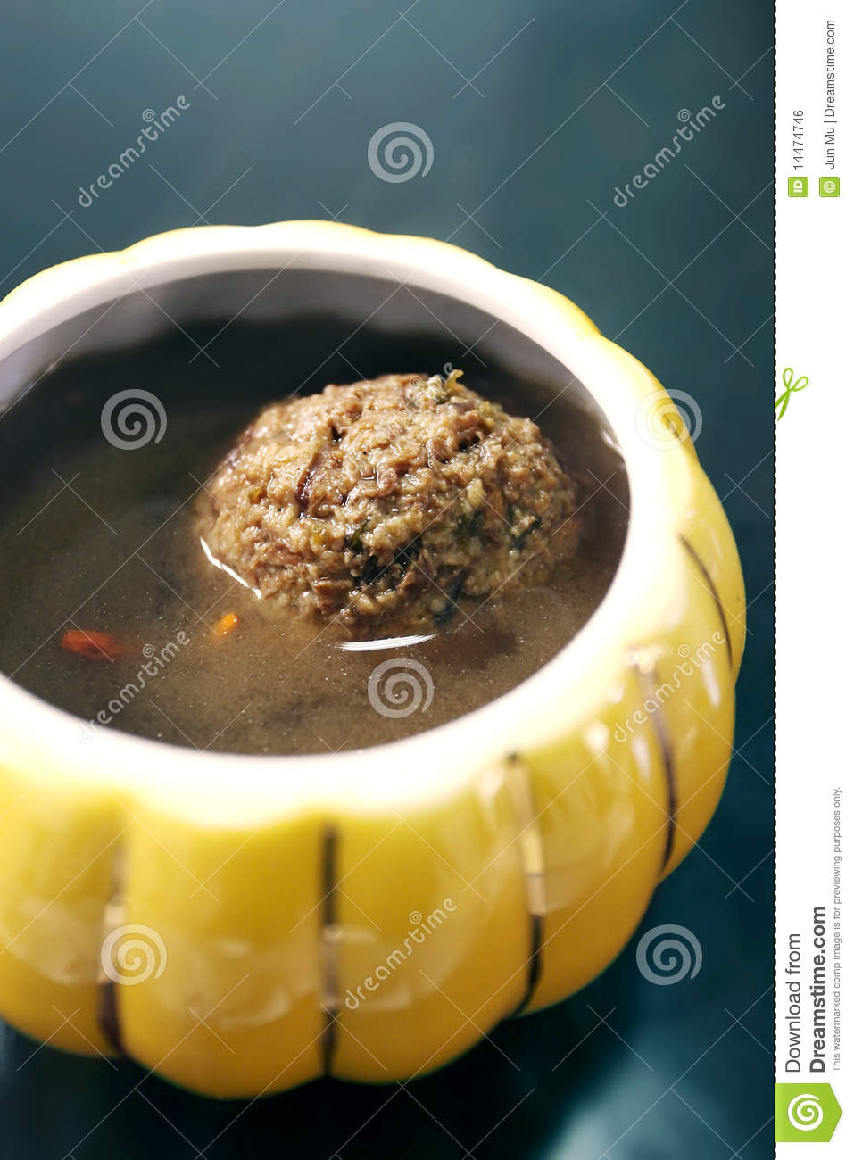 Chinese food,meat ball soup