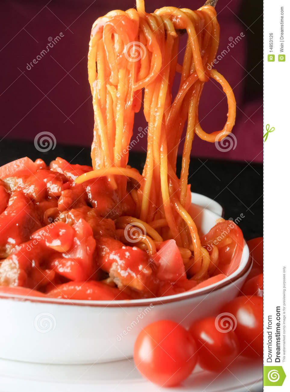 Chinese food- noodles with tomato and egg sauce