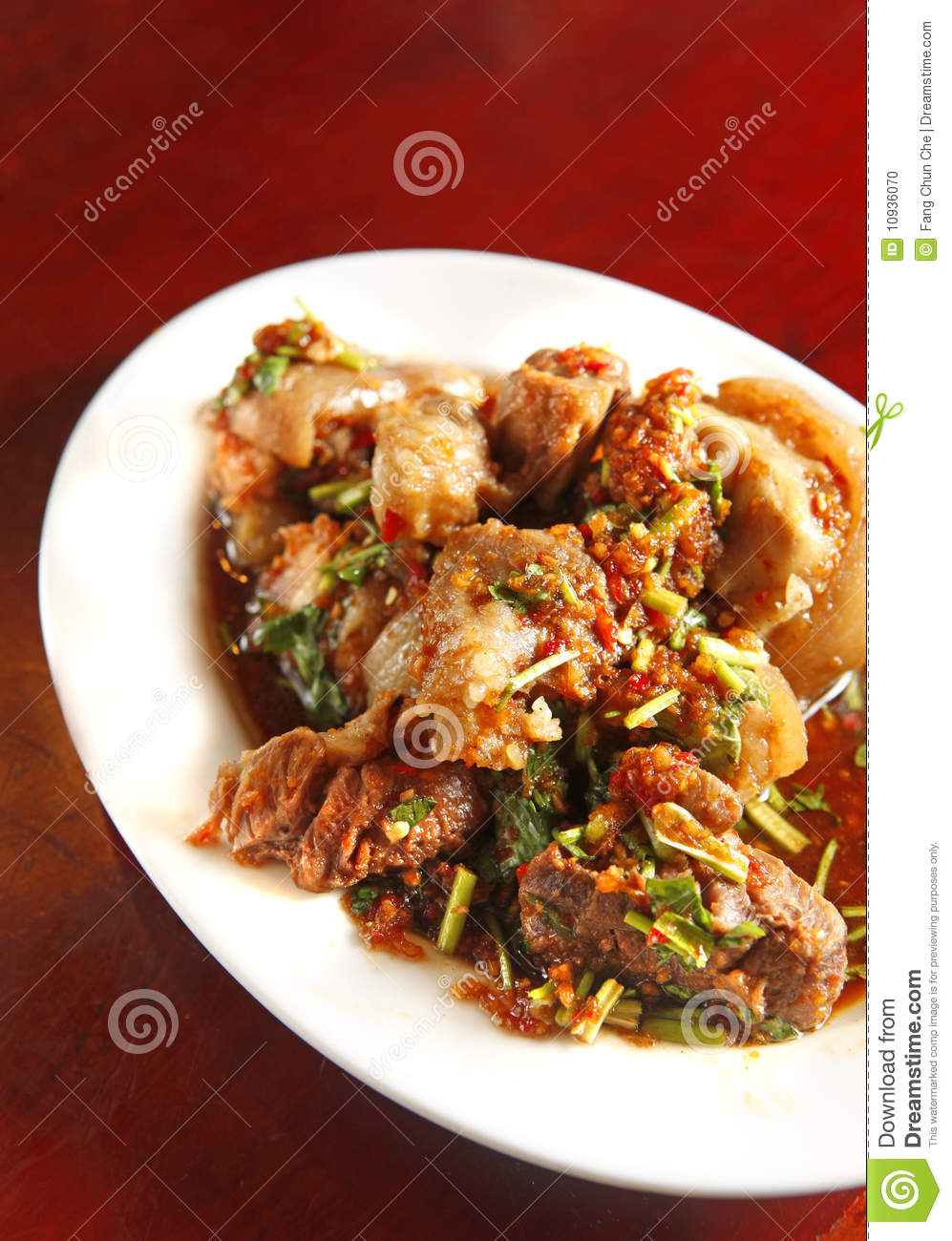 Chinese food, pork meal