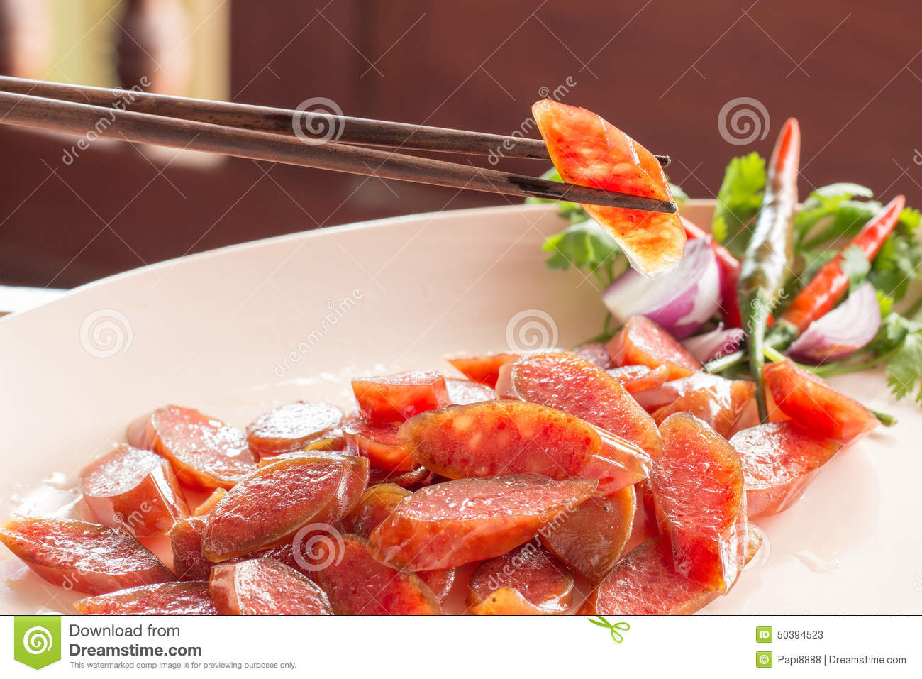 Chinese food sausage stock image  Image of barbecue, germany